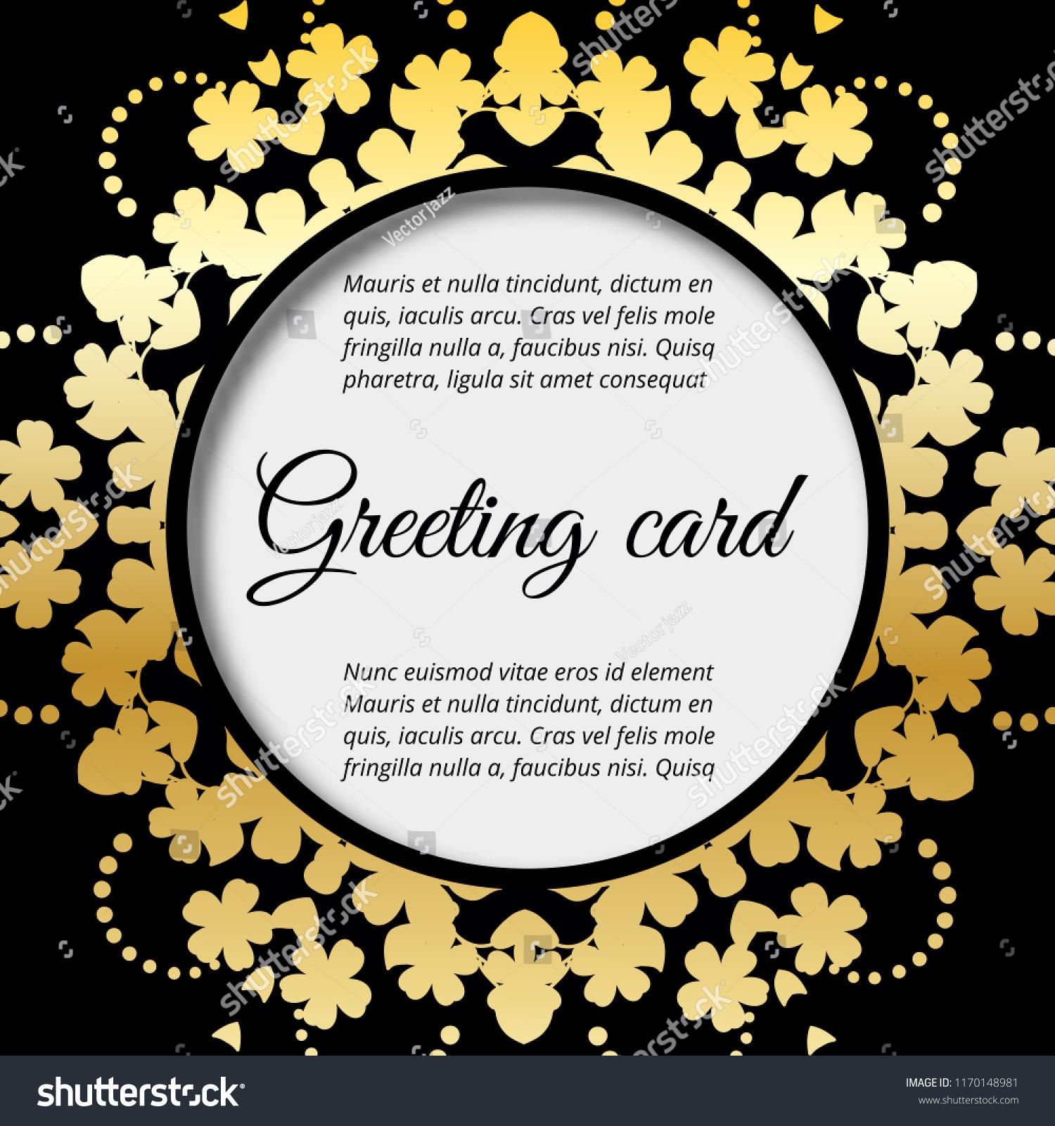 Greeting card, floral wedding felicitation elegant invite, thank.
