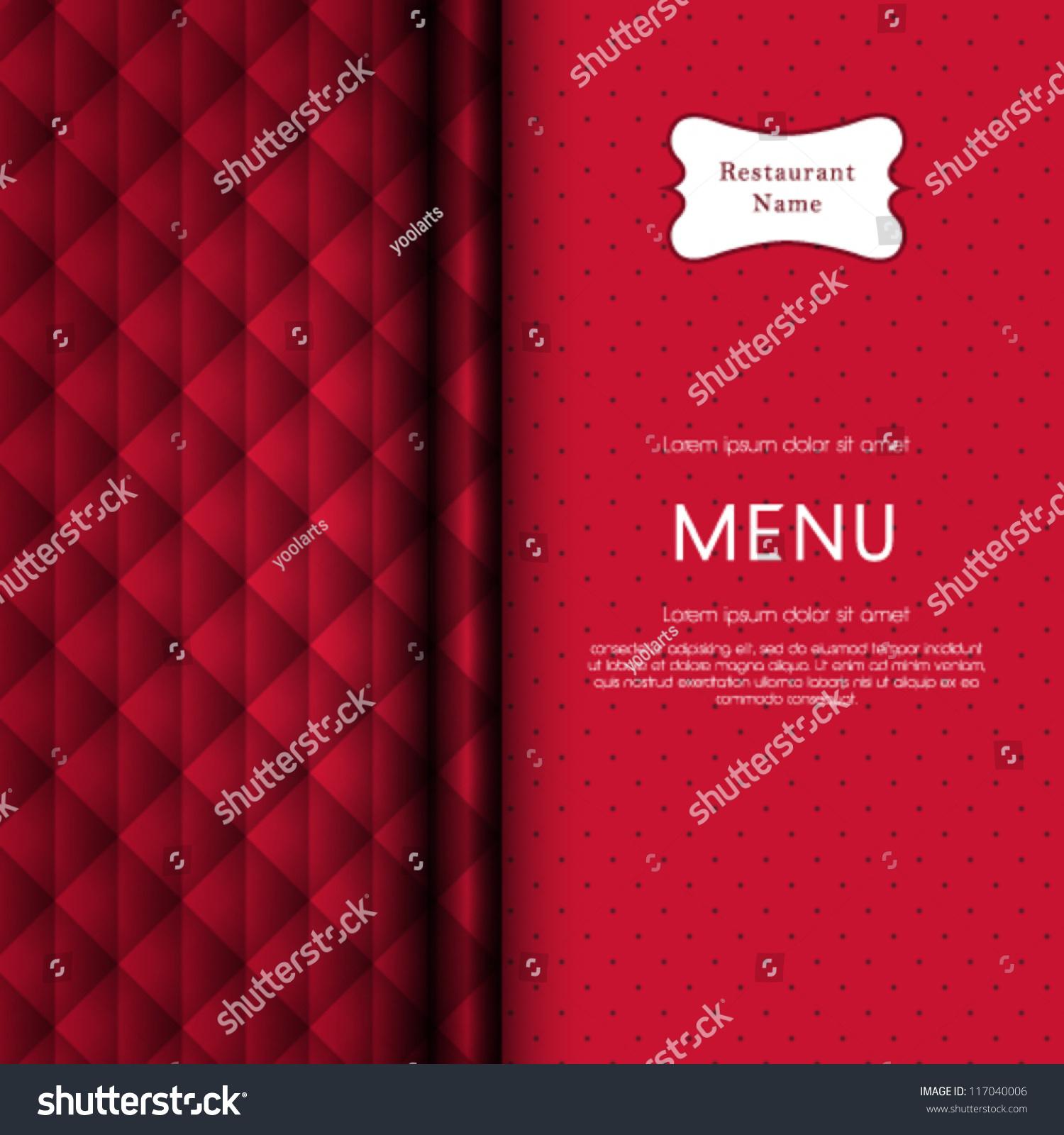 vector restaurant menu cover design stock vector 117040006