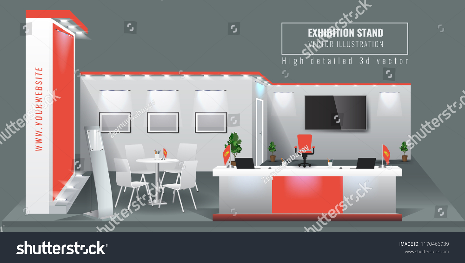 Exhibition Stand Mockup : Grand exhibition stand display mock up stock vector royalty free