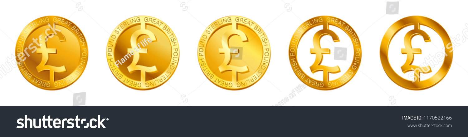 Vector Money Great British Pound Sterling Stock Vector Royalty Free