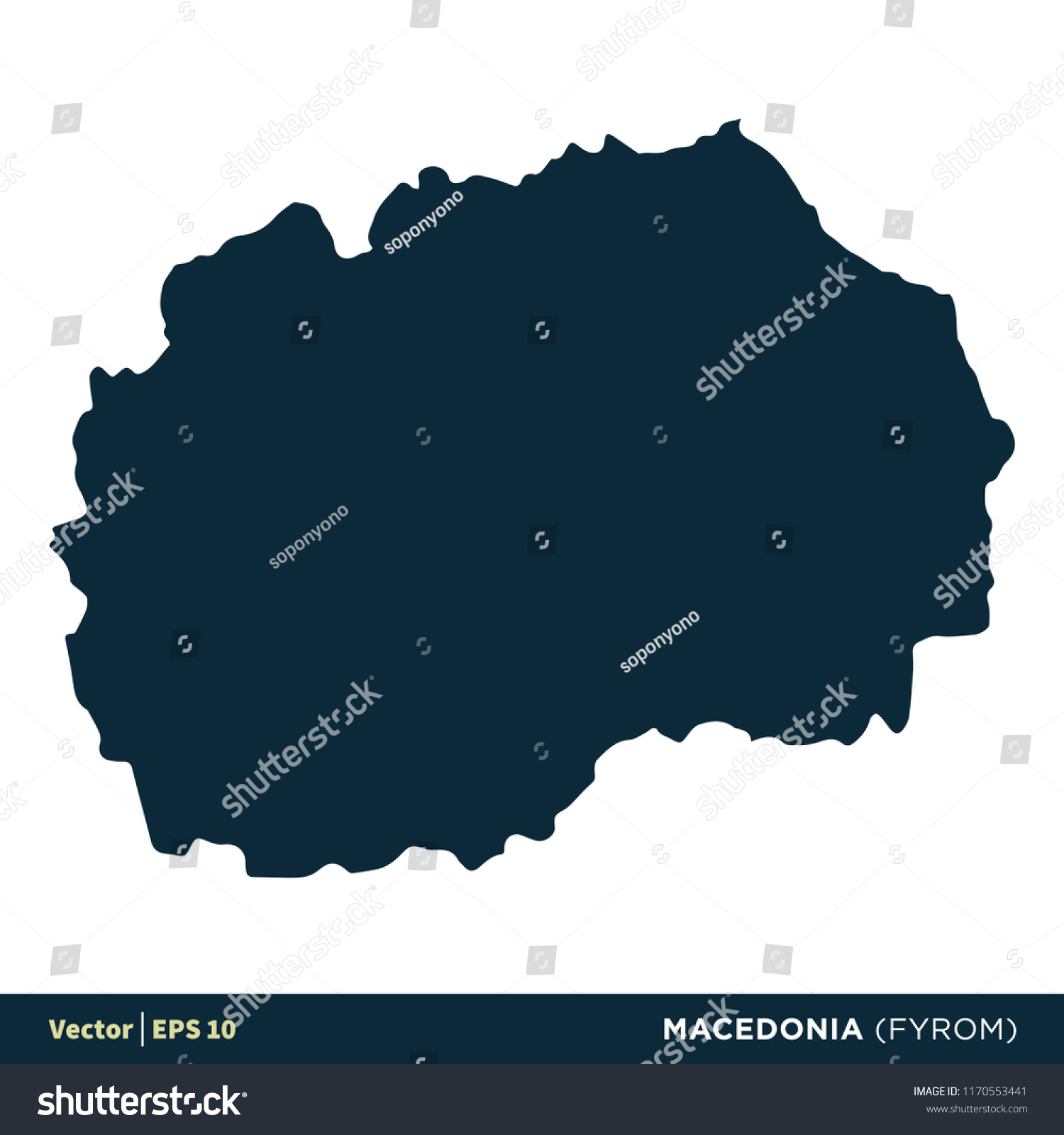 macedonia fyrom europe countries map vector stock vector royalty