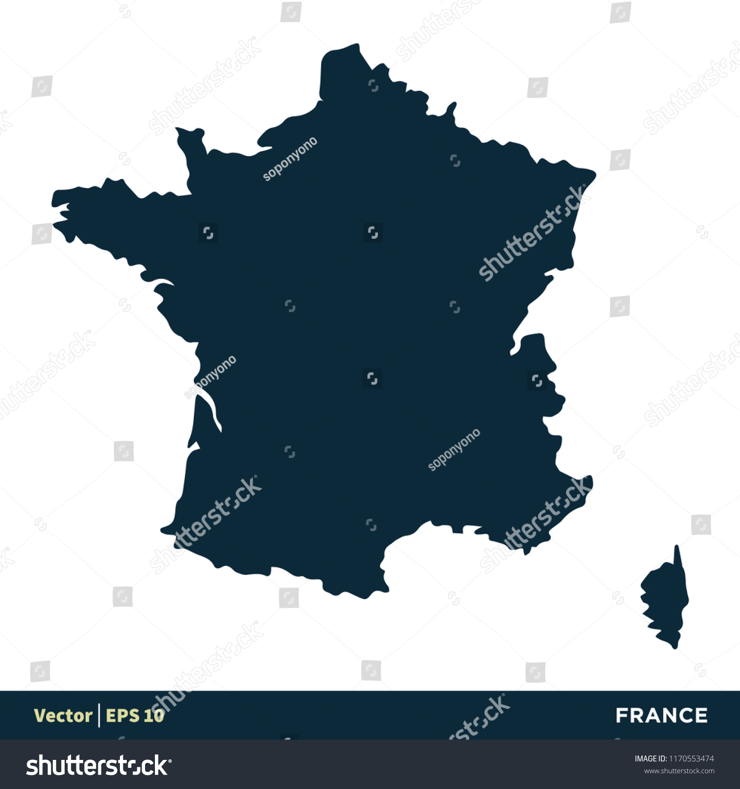 Map Of France And Europe.France Europe Countries Map Vector Icon Stock Vector Royalty Free