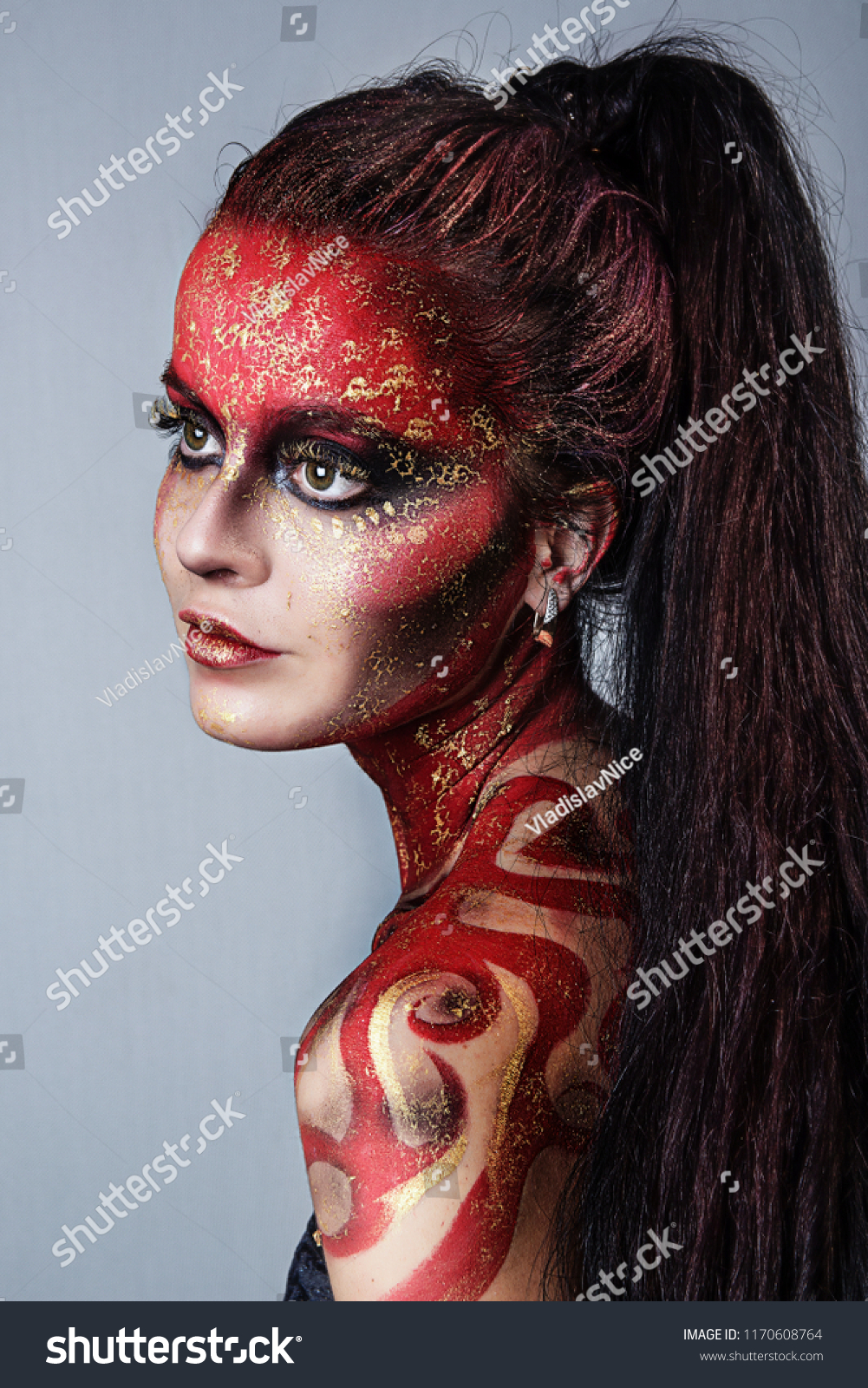 How-to makeup face paint sexy witch