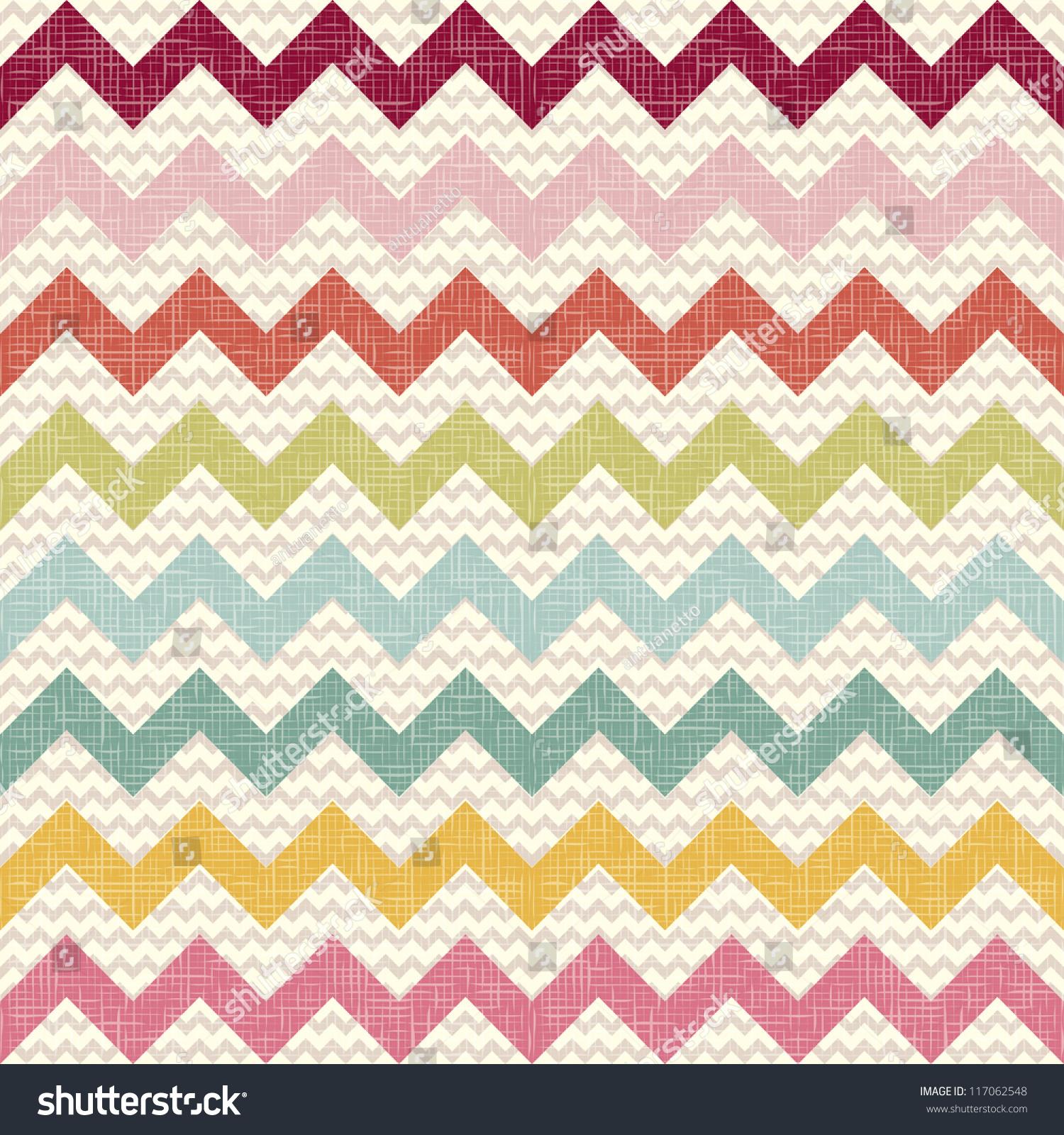 Seamless chevron pattern on linen texture stock photos image - Seamless Color Chevron Pattern On Linen Stock Vector