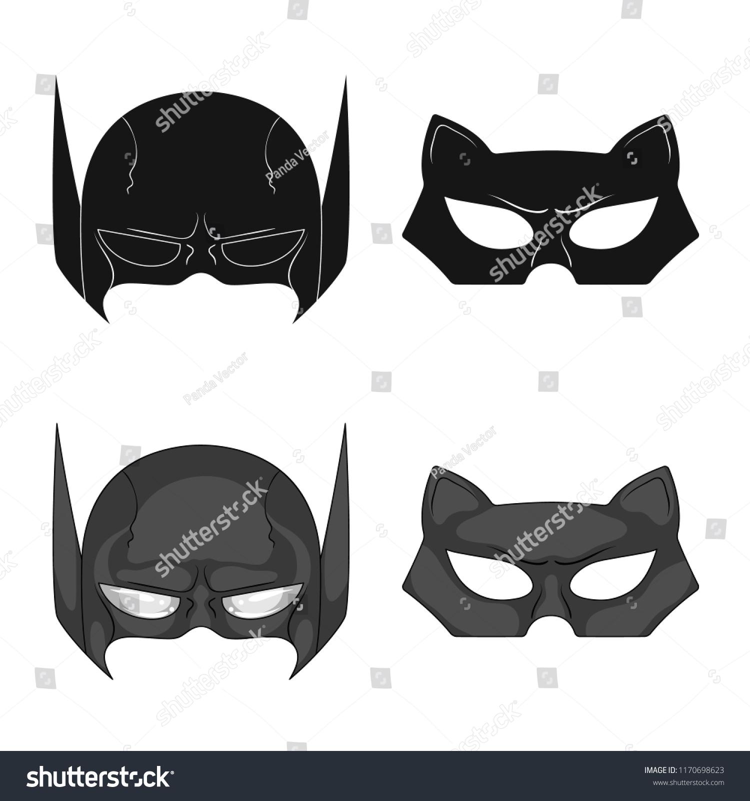 Vector Design Hero Mask Symbol Set Stock Vector Royalty Free