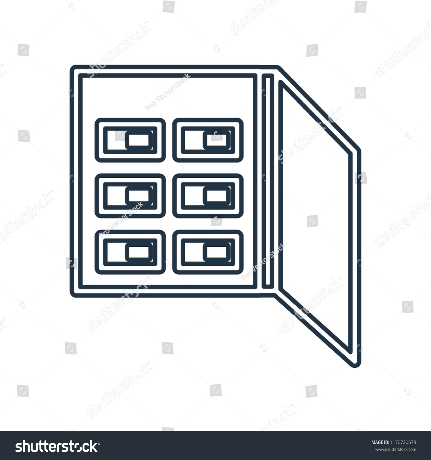 Fuse box icon isolated on white background for your web and mobile app  design