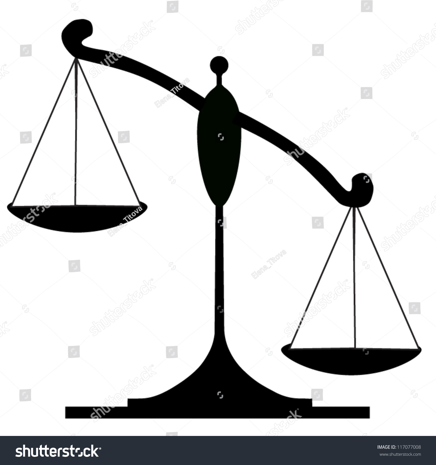 Icon Justice Scales Stock Vector 117077008 - Shutterstock
