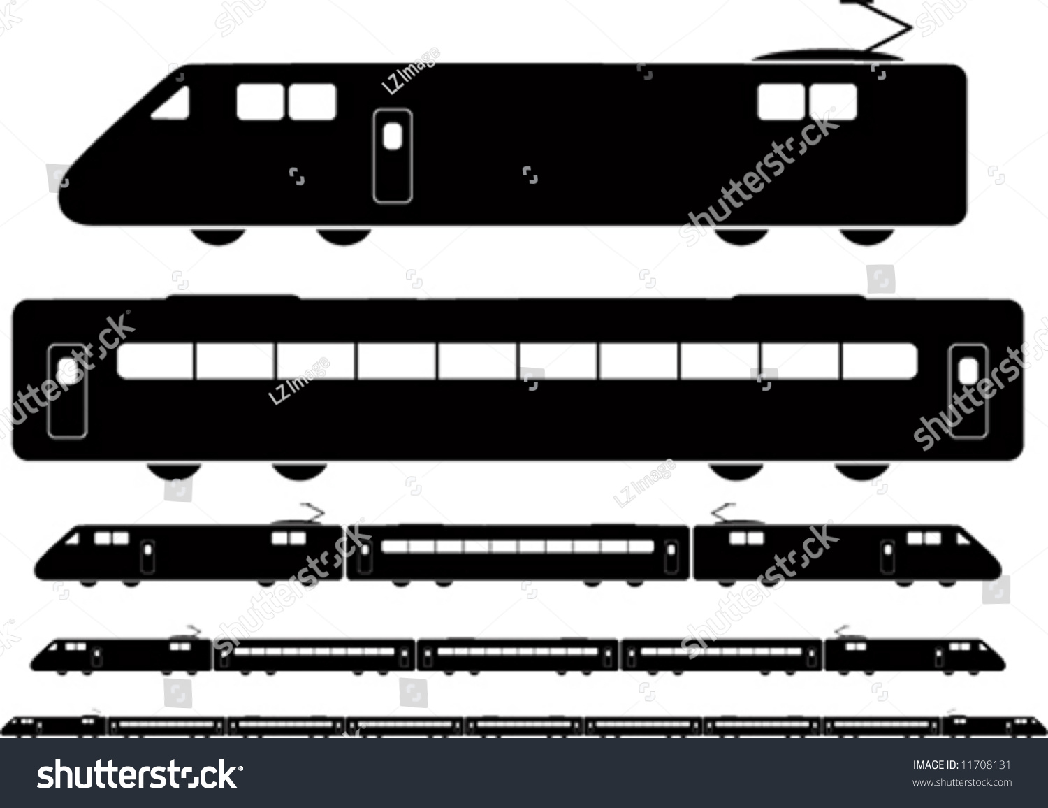 Train Vector Different Combinations Stock Vector 11708131 ...