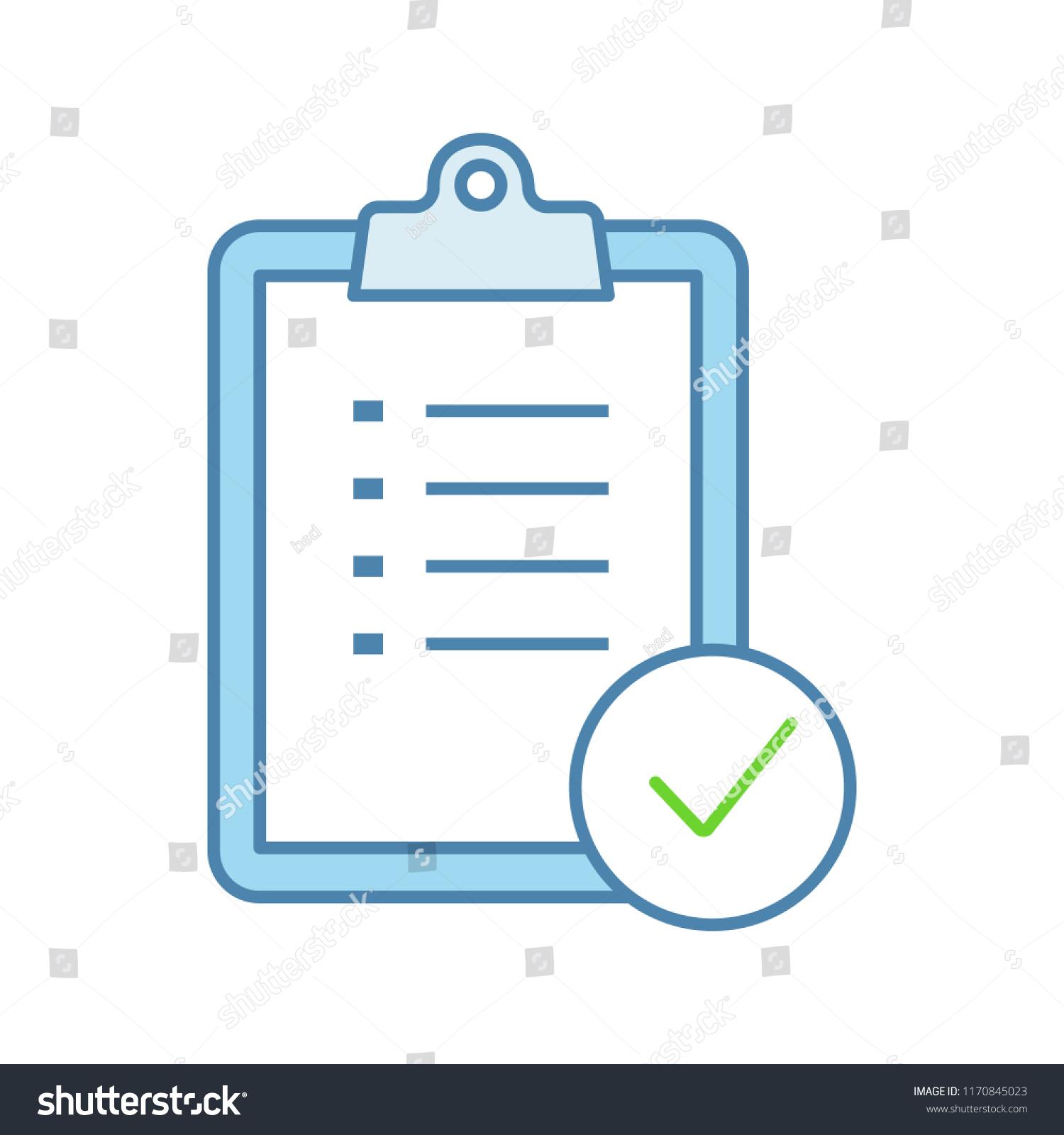 task planning color icon do list stock vector royalty free