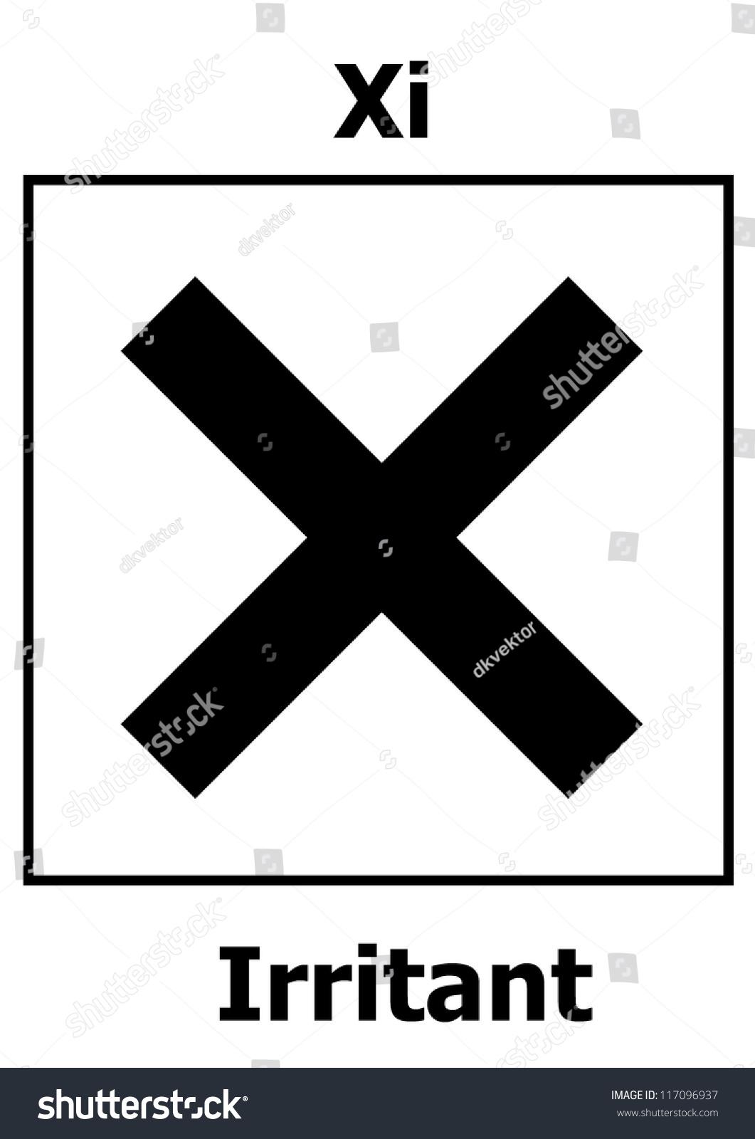 Hazard symbol irritant stock vector 117096937 shutterstock hazard symbol irritant biocorpaavc Gallery