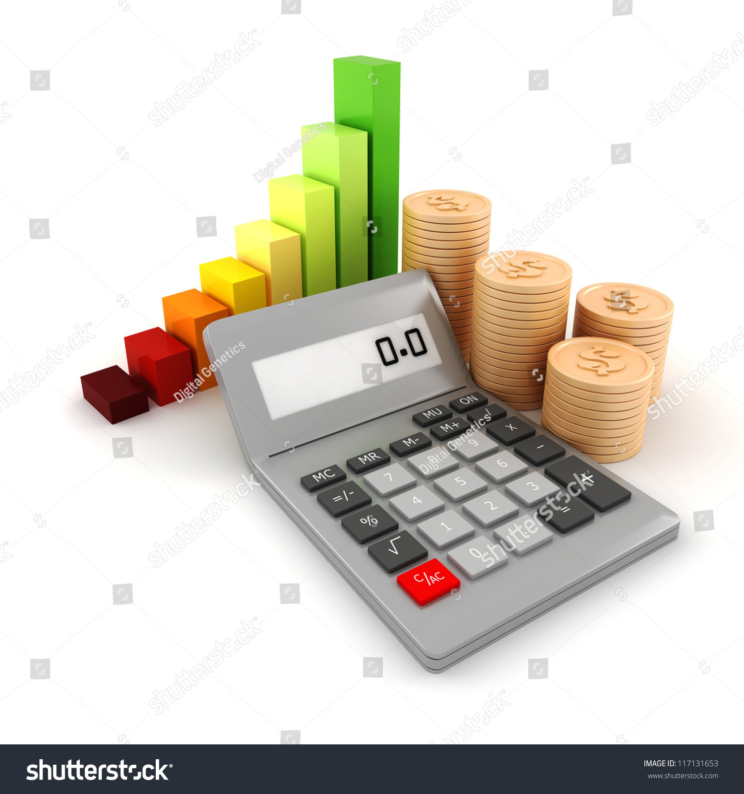 3 d pocket calculator coins on white stock illustration 117131653 3d pocket calculator and coins on white background ccuart Image collections