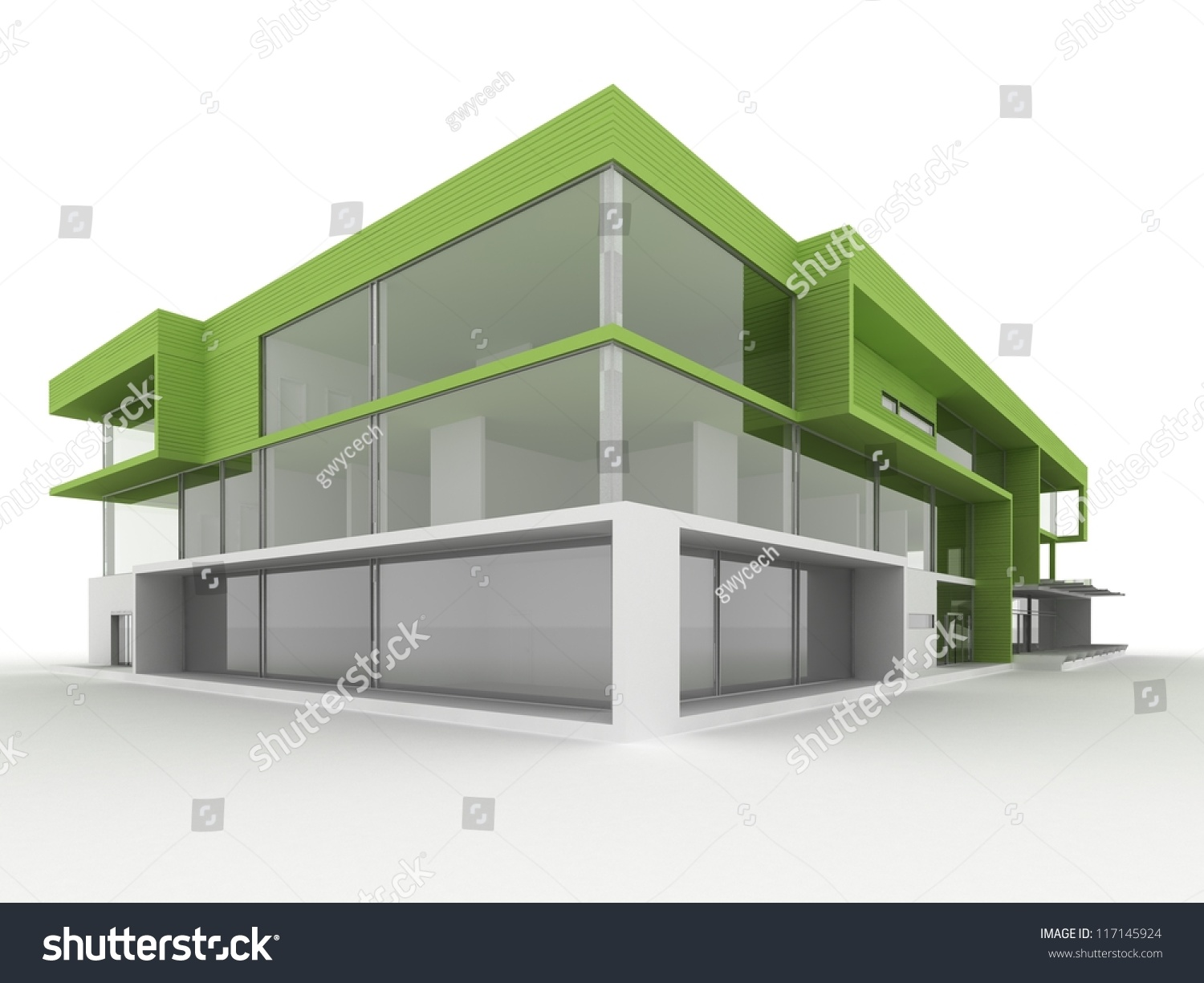 Design modern office building environmentally friendly for Modern and postmodern design of building