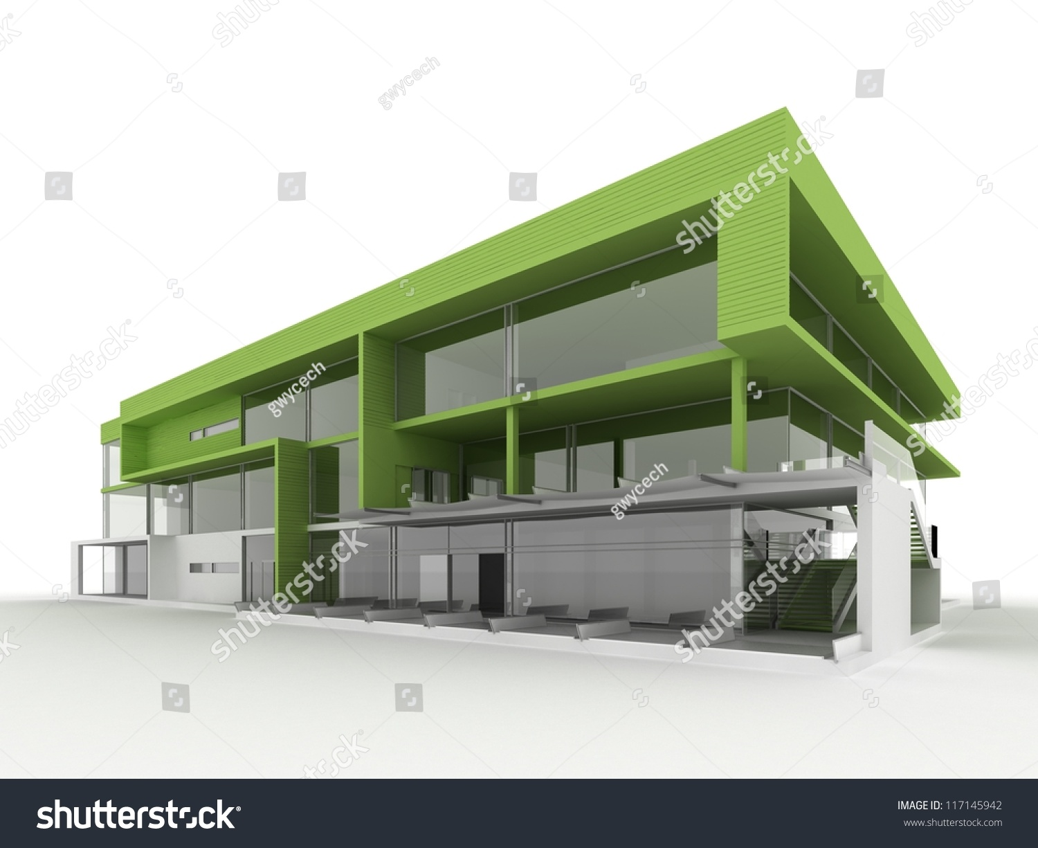 Design Modern Office Building Environmentally Friendly