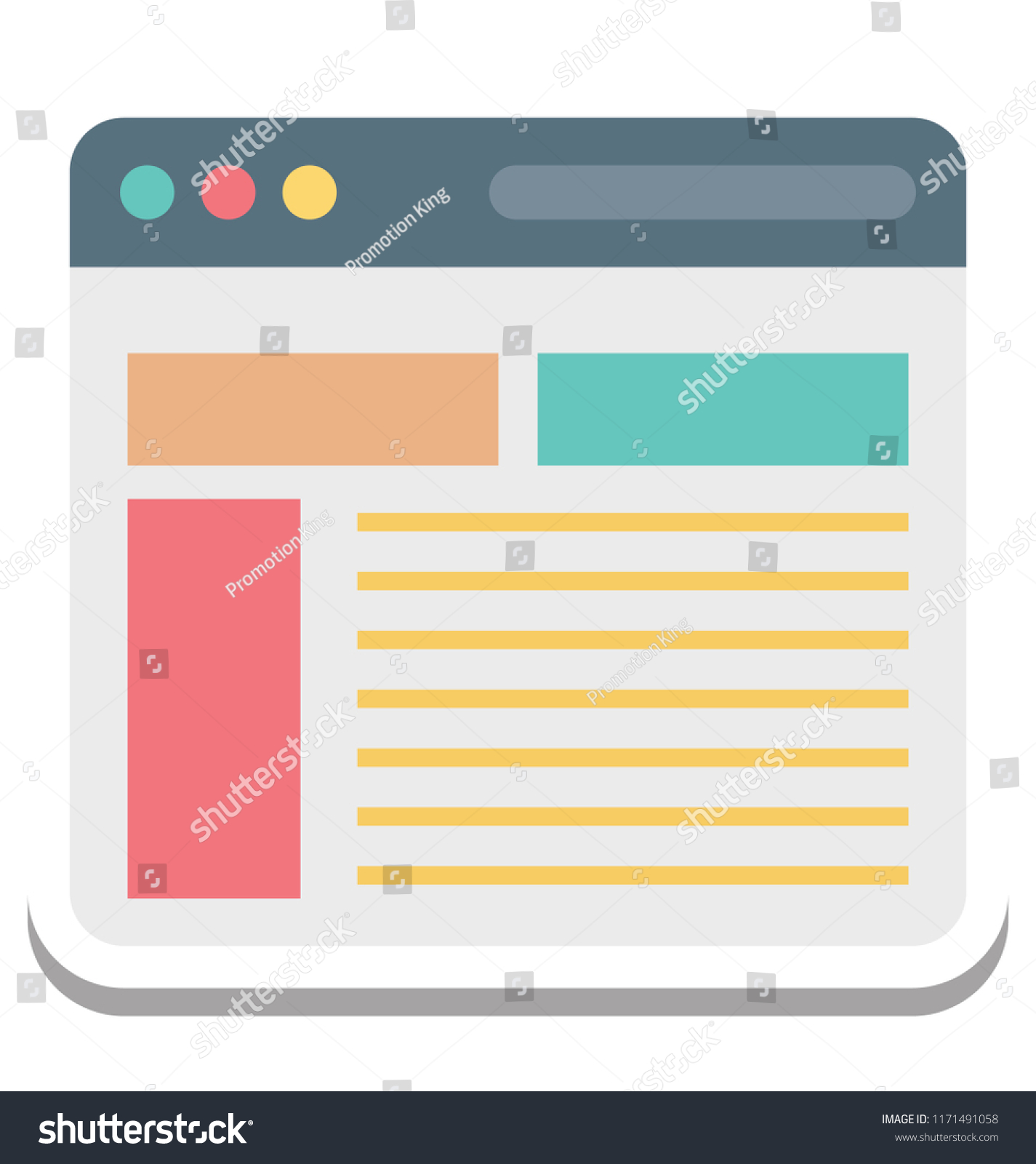 web template web layout vector icon stock vector (royalty free