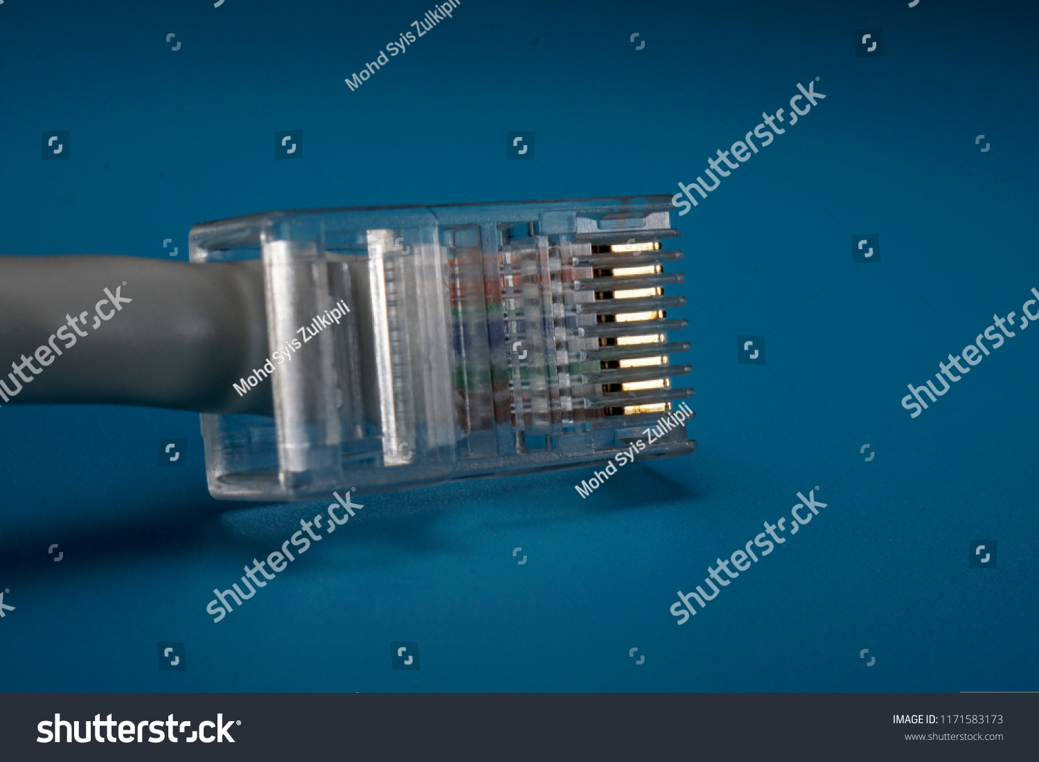 Lan Network Connection Ethernet Cable Internet Stock Photo Edit Now Rj45 Wiring Diagram Cord Isolated On Teal Background