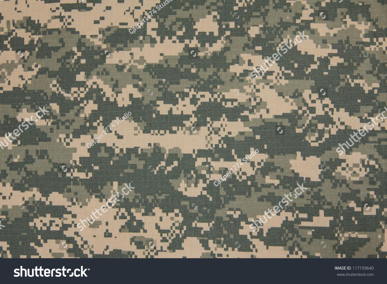 us army acu digital camouflage fabric stock photo