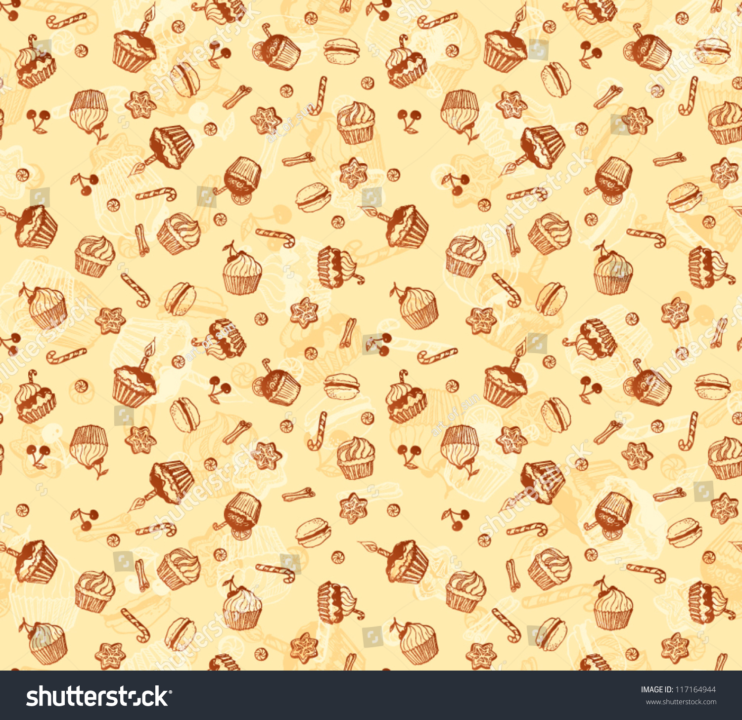 seamless doodle coffee pattern - photo #8
