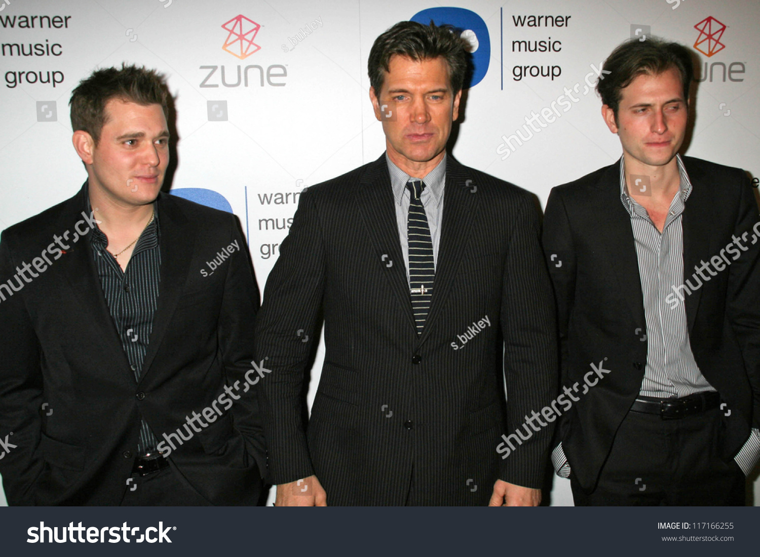 Michael Buble With Chris Isaak And Peter Cincotti At The ...