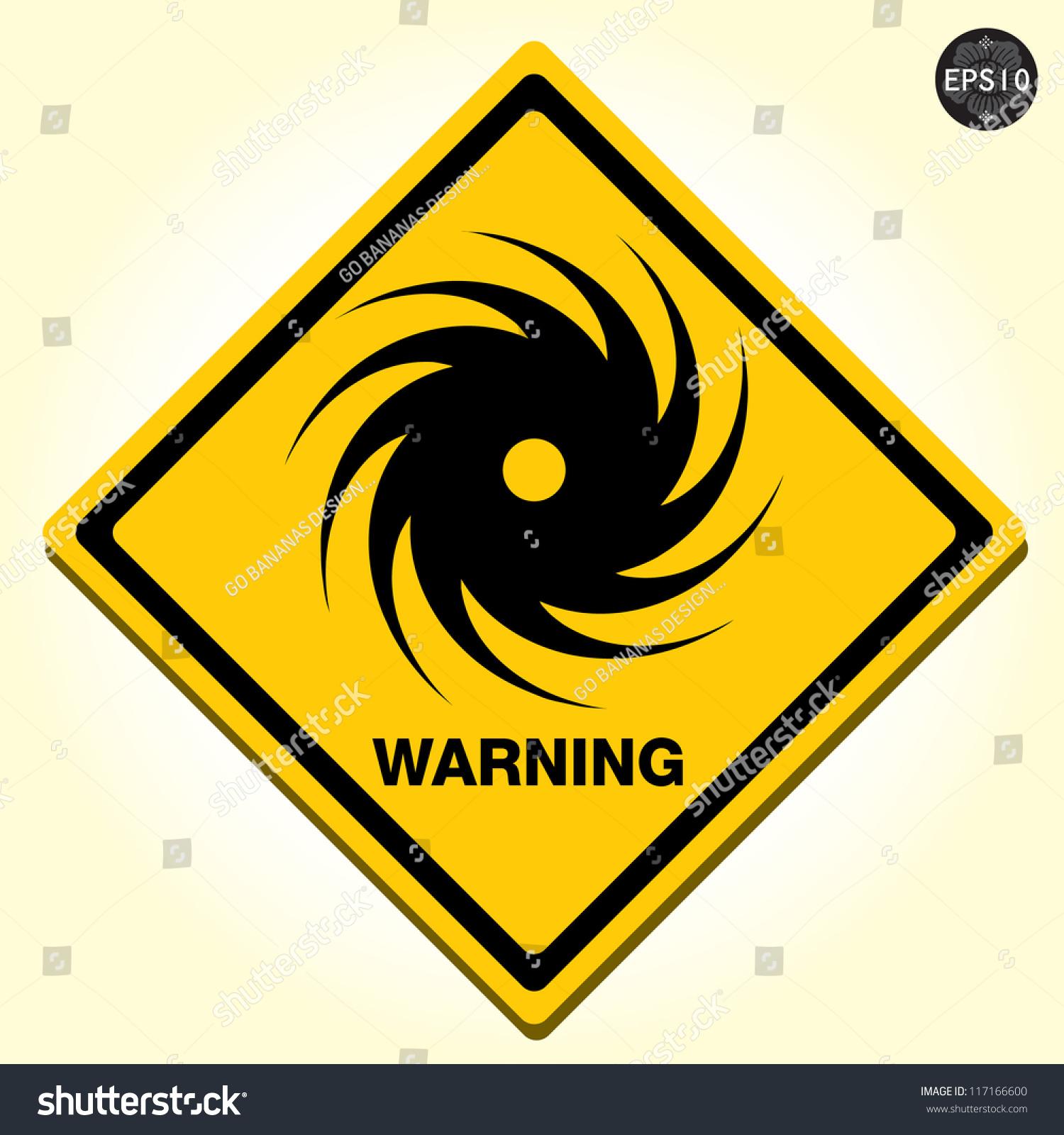 Hurricane Warning Sign Vector Stock Vector Royalty Free 117166600