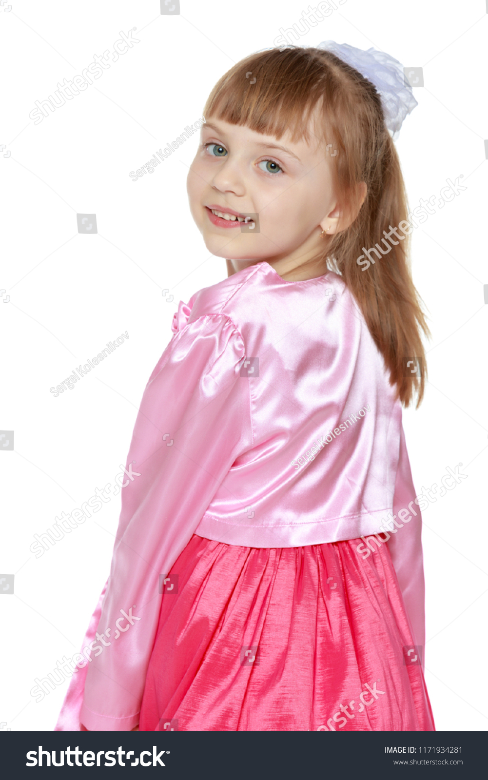 3b1a99aa957 Beautiful Little Girl 6 Years Old Stock Photo (Edit Now) 1171934281 ...