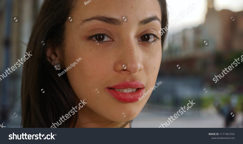 Charming Sexy latina outdoors