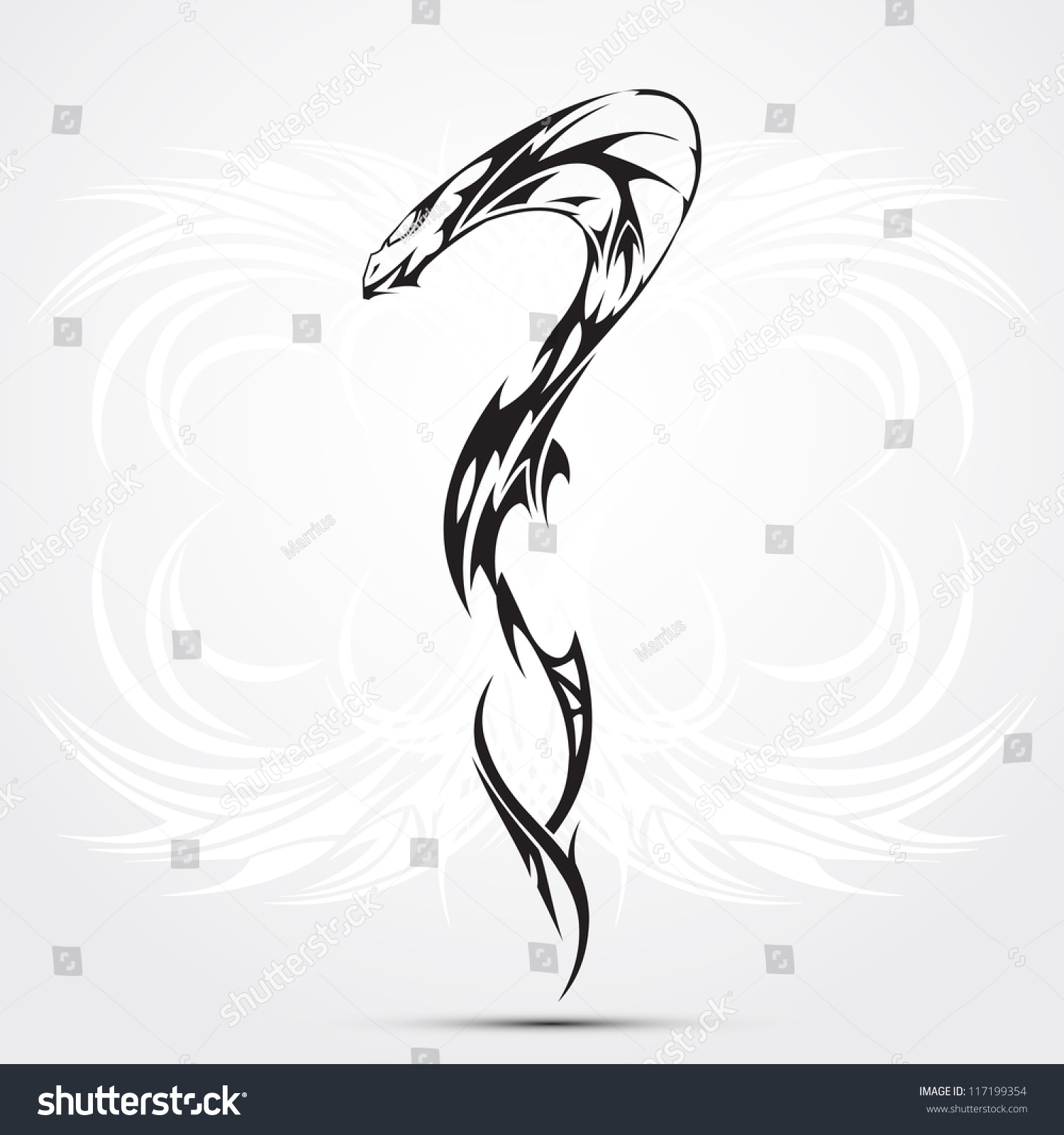 Forasteiro Tattoo Tattoo Serpente: Abstraction Or Tattoo As A Snake. Background For New Year