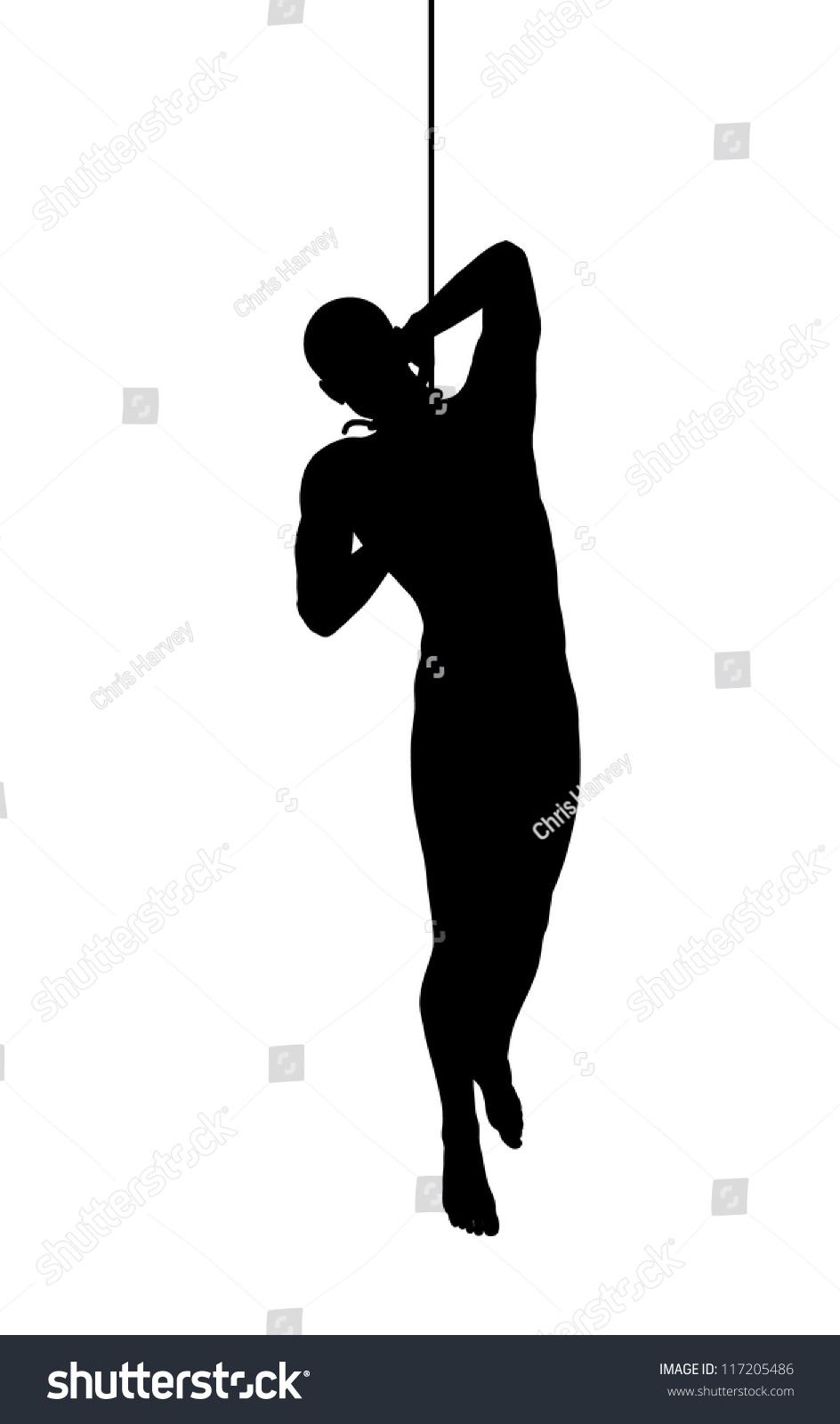 silhouette hanging man stock illustration 117205486 shutterstock