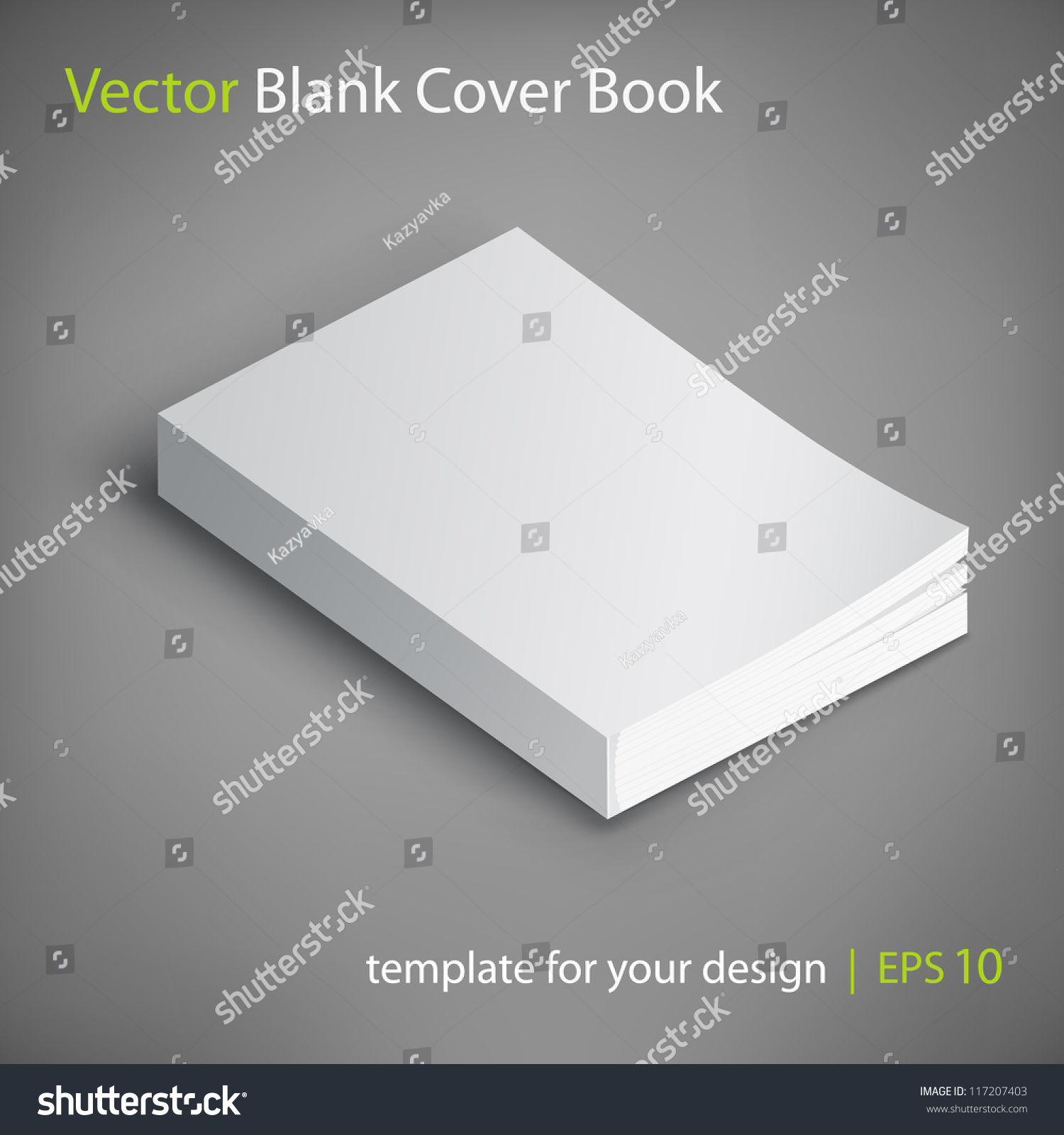 Blank Book Cover Vector Illustration Free ~ Blank book cover vector illustration template for your