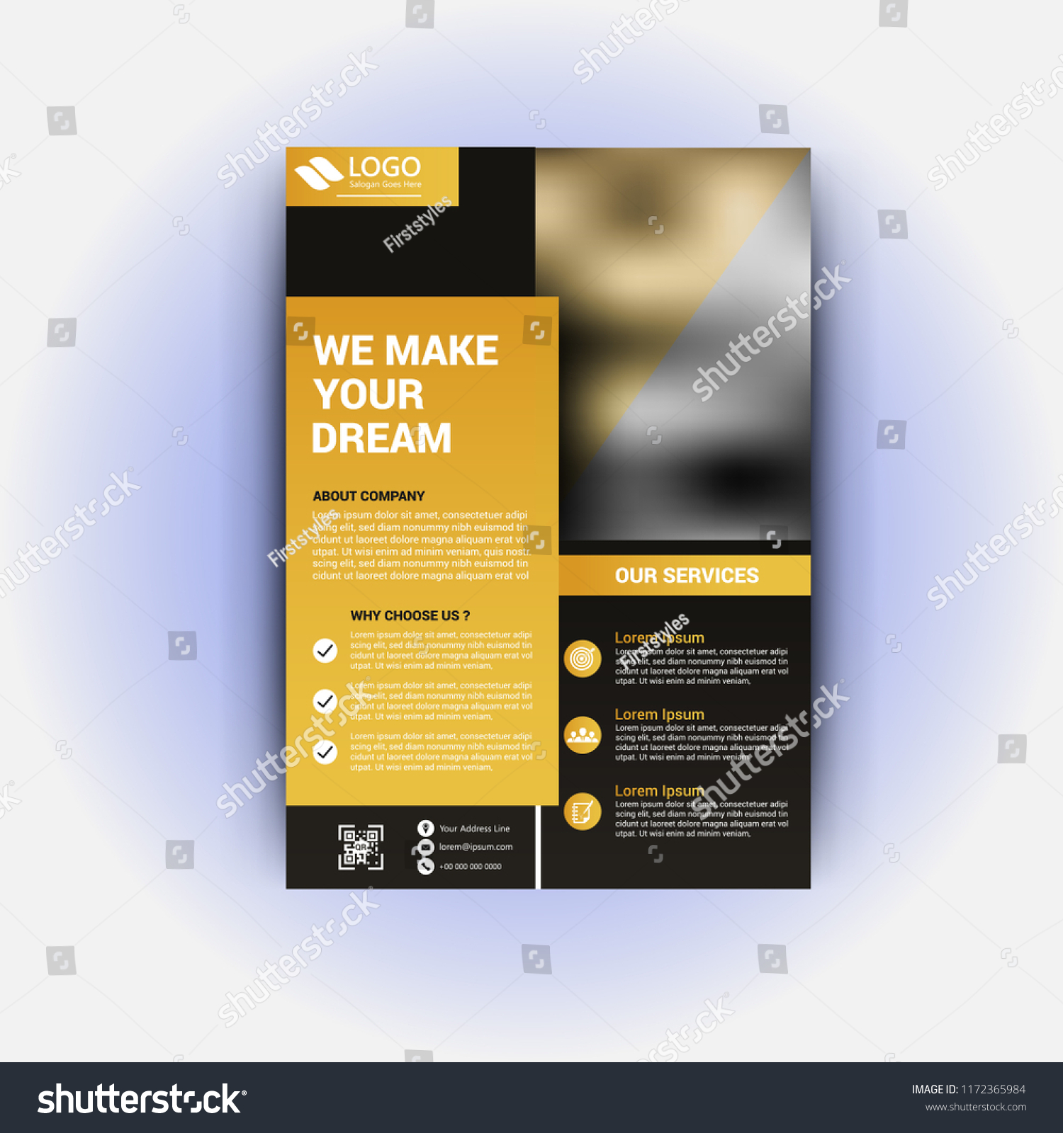 Realestate Flyer Template Stock Vector Royalty Free 1172365984