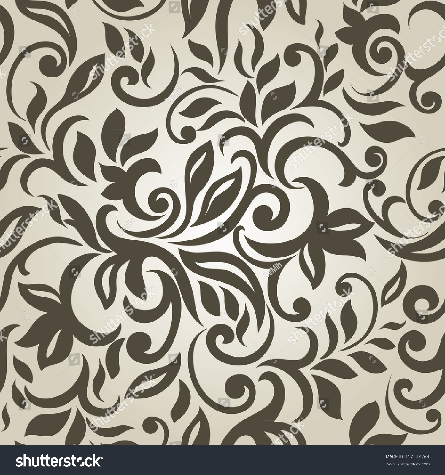 Stylish Modern Abstract Background Floral Seamless Stock Vector ...