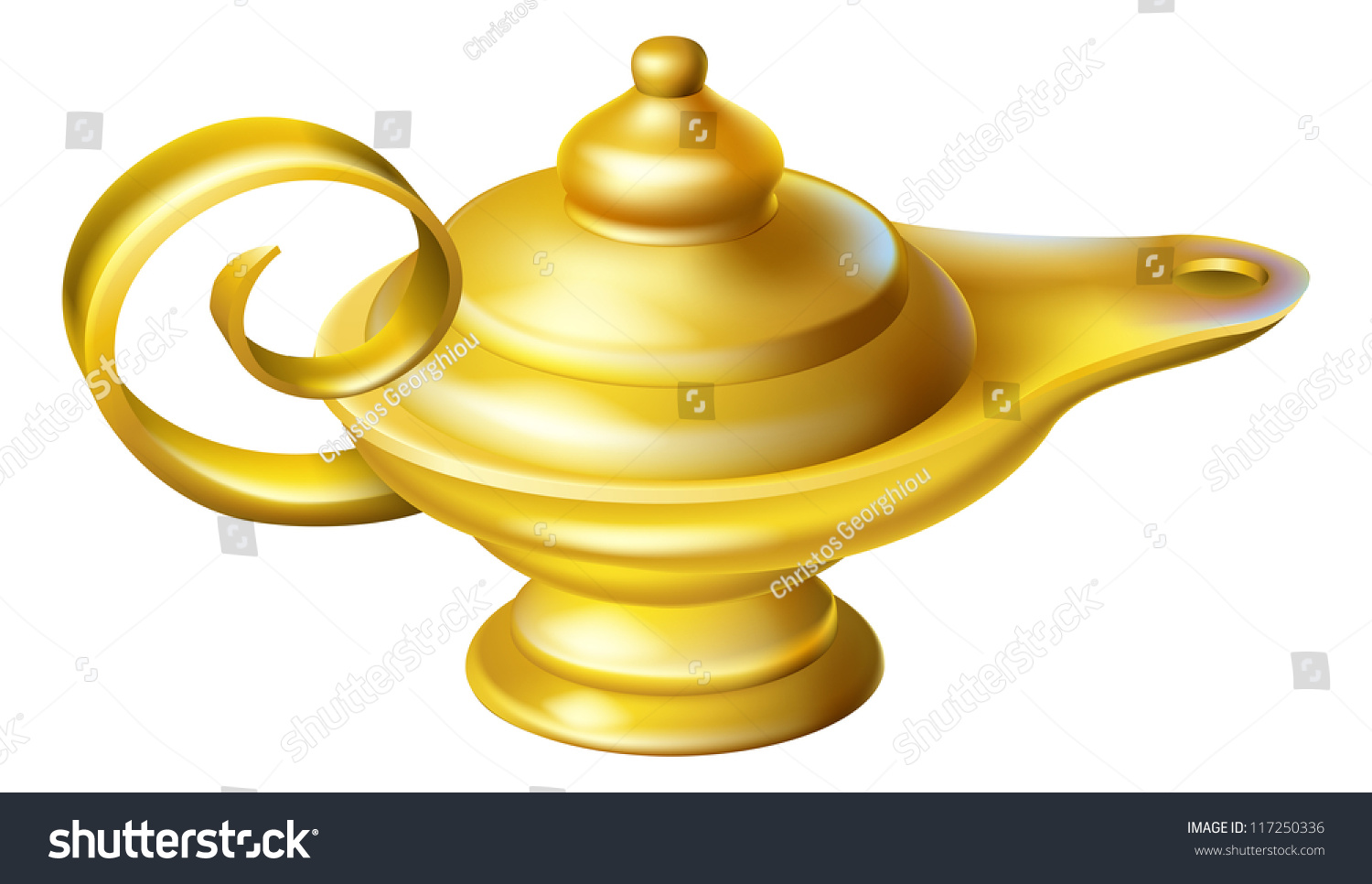 Illustration Old Fashioned Oil Lamp Like Stock Vector 117250336 ...