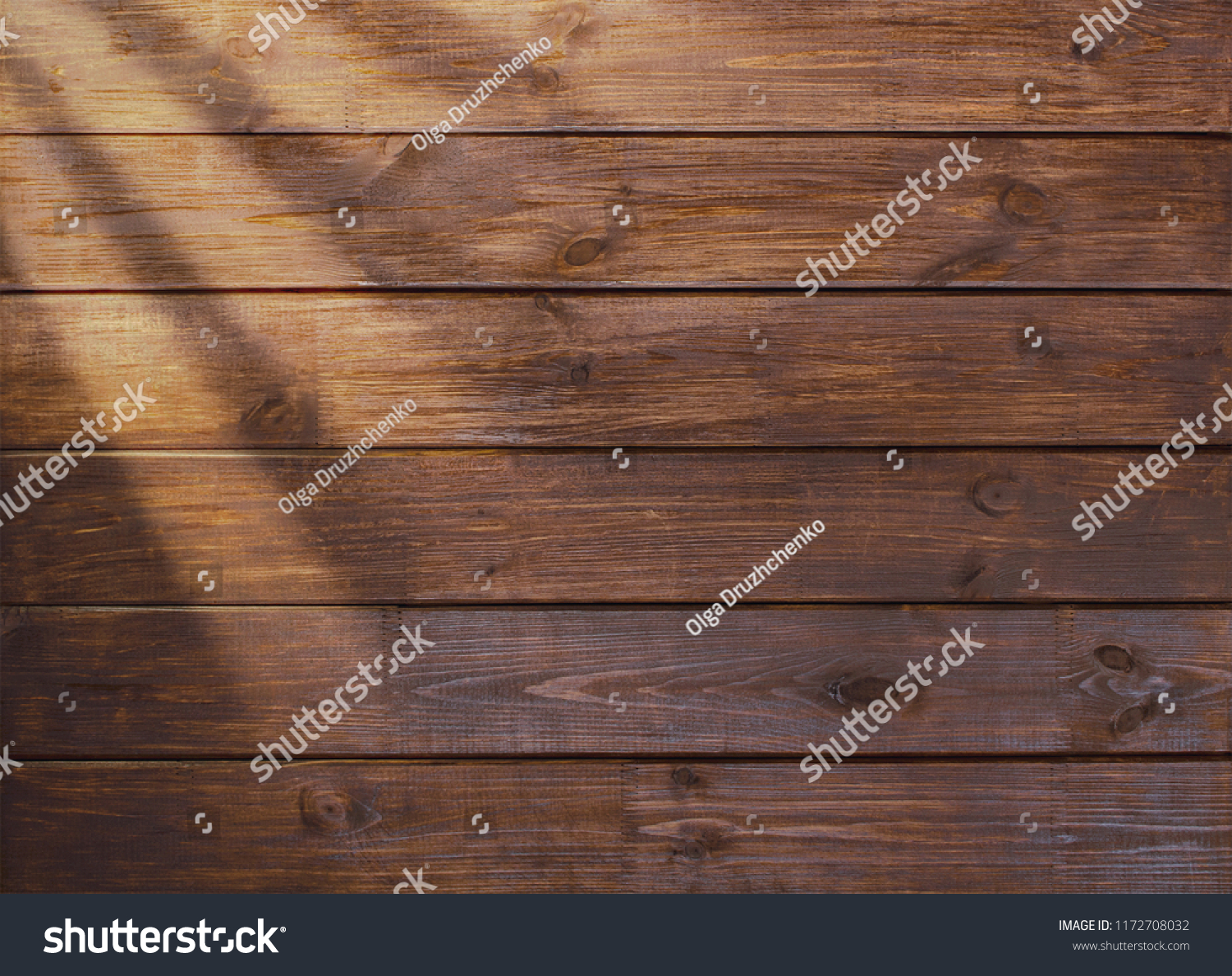 brown wooden plank desk table background texture top view #1172708032