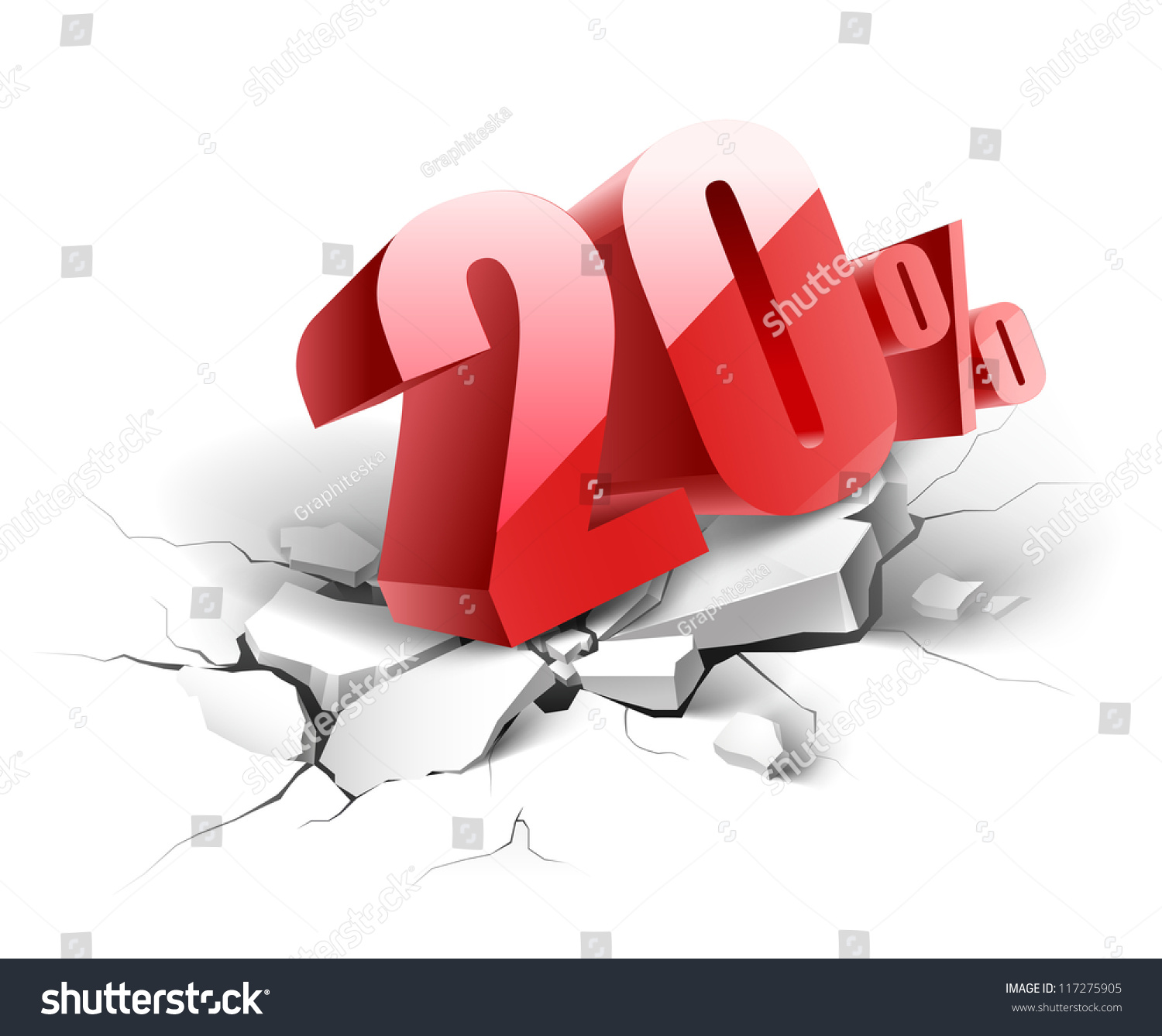 20 percent discount icon on white background stock vector for Cheap white wallpaper
