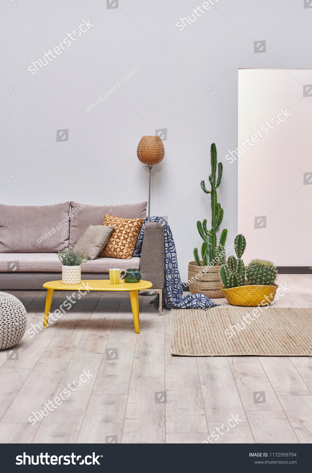 Picture of: Modern Decorative Living Room Style Grey Stock Photo Edit Now 1172999794
