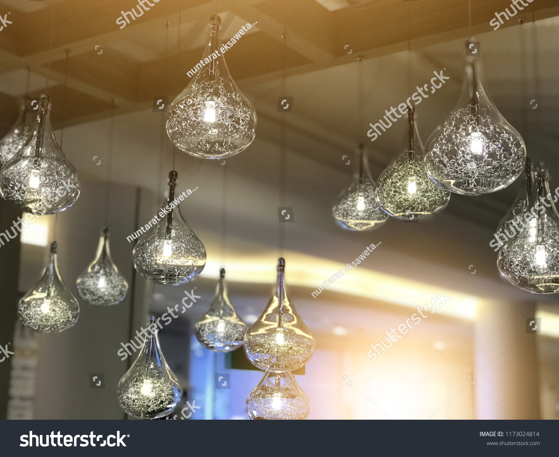 Light Bulbs Decoration Cafe Shop New Stock Photo Edit Now 1173024814