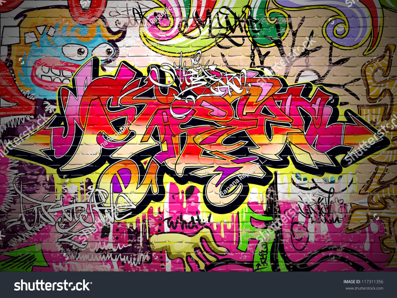 Graffiti wall vector free - Graffiti Wall Vector Urban Art