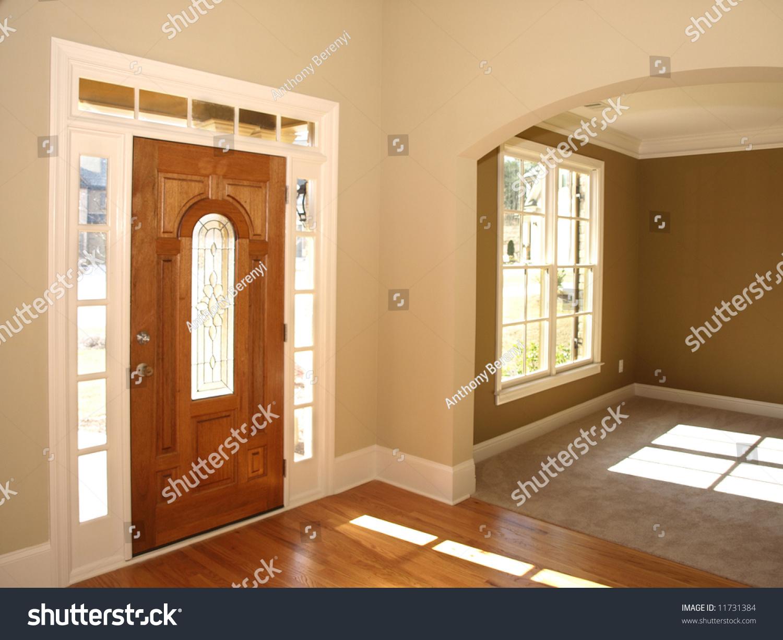 Luxury Glass Door : Luxury stained glass door with arch stock photo