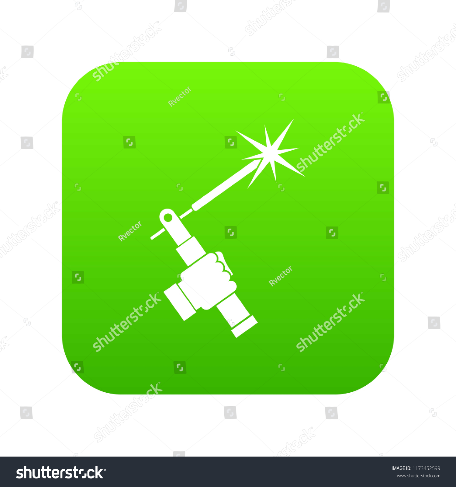 Mig Welding Torch Hand Icon Digital Stock Illustration 1173452599 Diagram In Green For Any Design Isolated On White