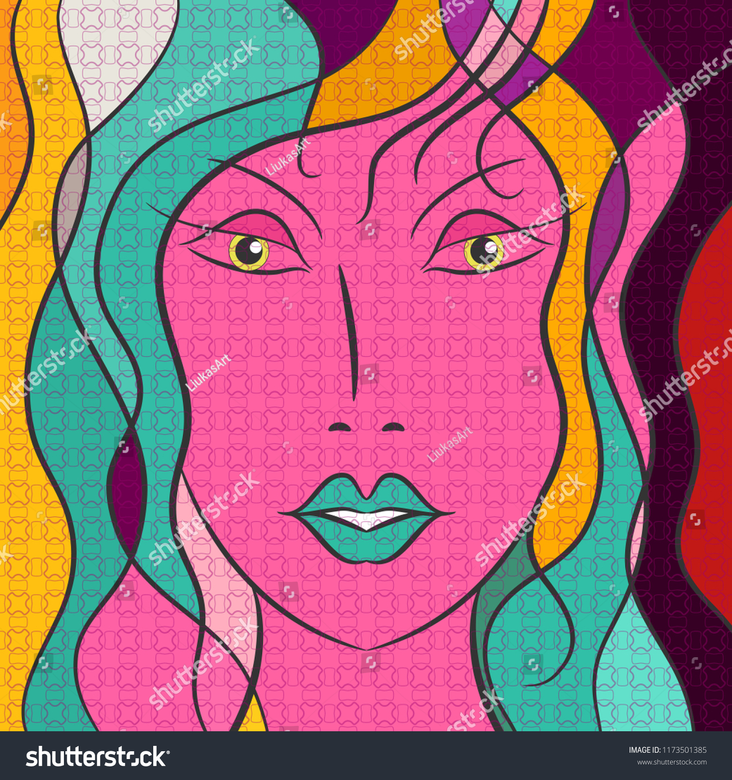 Pop Art Girl Face Beautiful Fashion Stock Vector Royalty Free 1173501385 A wide variety of abstract pop art paintings options are available to you, such as subjects, print method, and style. https www shutterstock com image vector pop art girl face beautiful fashion 1173501385