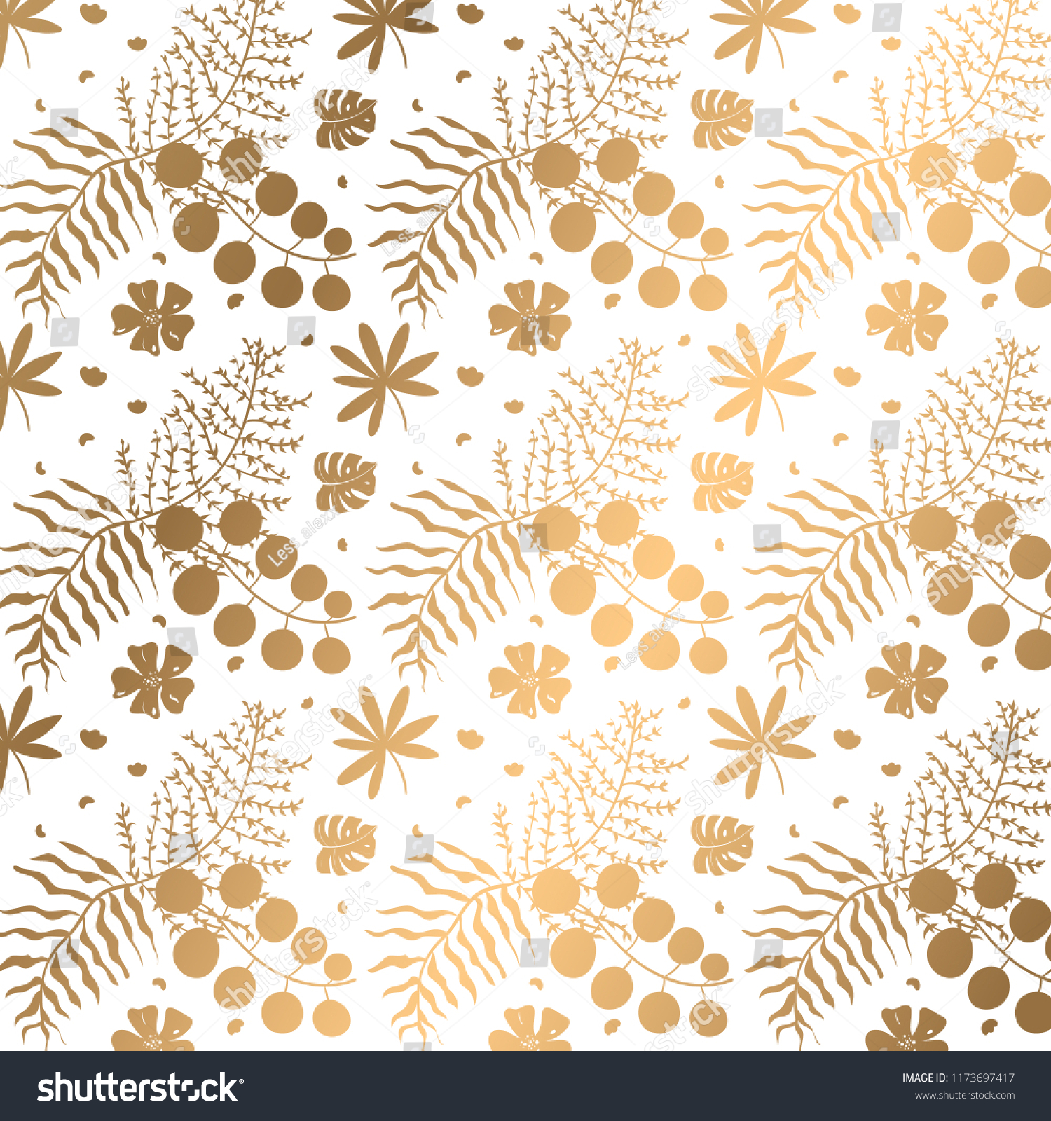 Modern Floral Wallpaper Background Decorative Pattern Stock Image