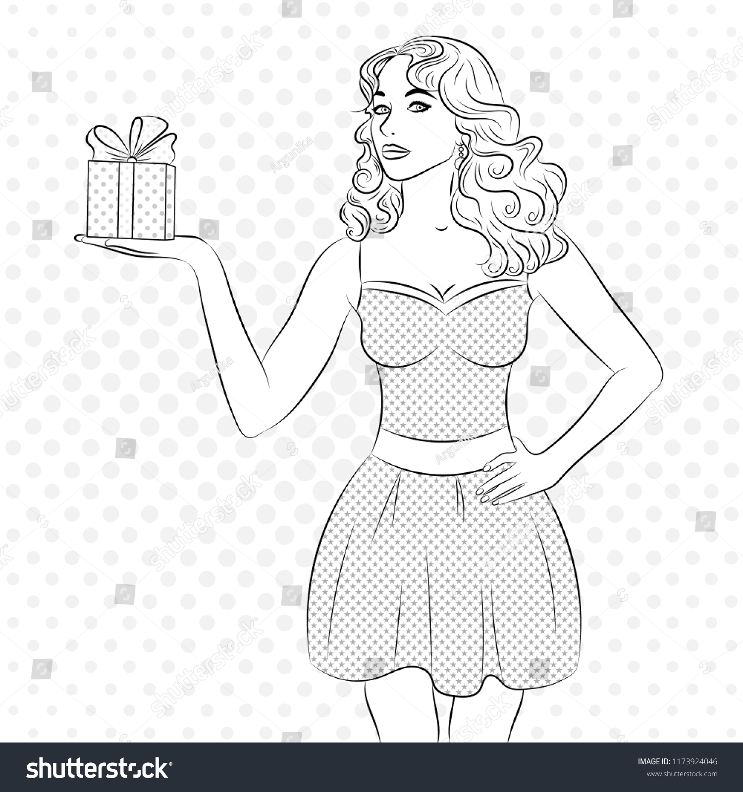- Woman Hand Drawn Vector Illustration Sketch Stock Vector (Royalty