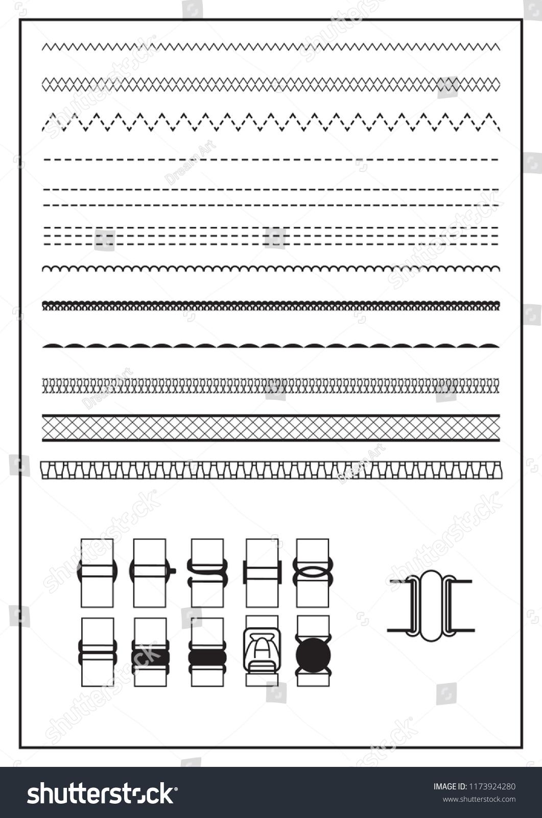 Illustrator Brushes Fashion Design Stock Illustration 1173924280