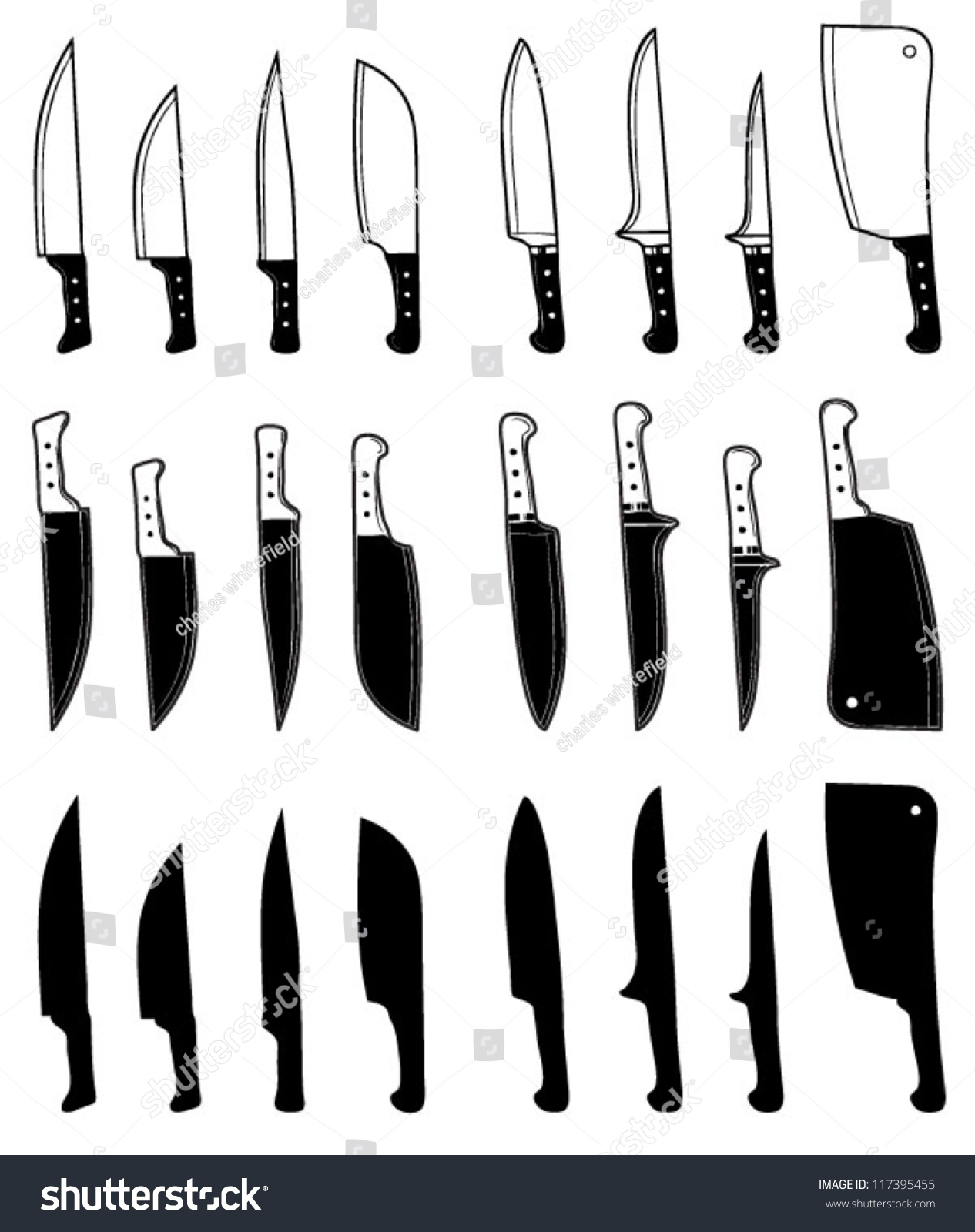 Kitchen Knife Vector knife kitchen knives vector icon isolated stock vector 117395455