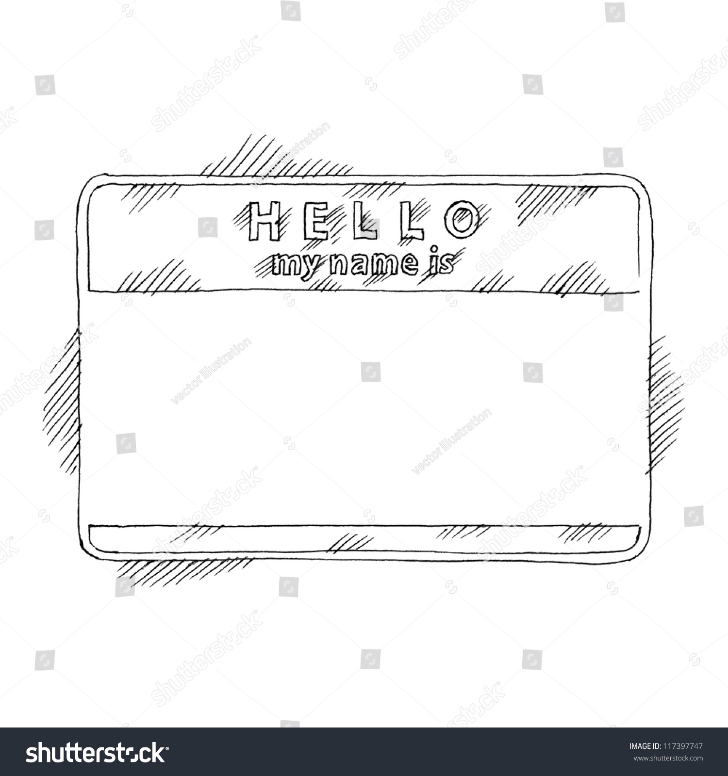H tag background image - Name Tag Sticker Hello My Name Is On White Background Blank Badge Painted Handmade Draw