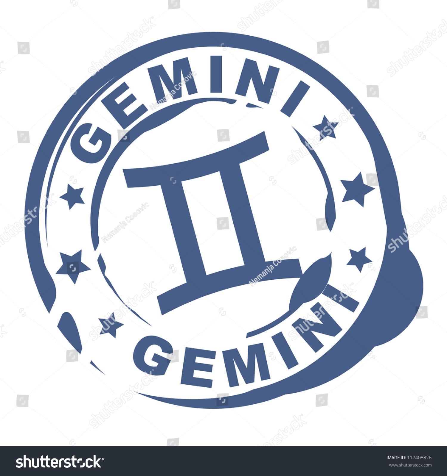 Astrological sign rubber stamp gemini symbol stock vector astrological sign rubber stamp with gemini symbol buycottarizona
