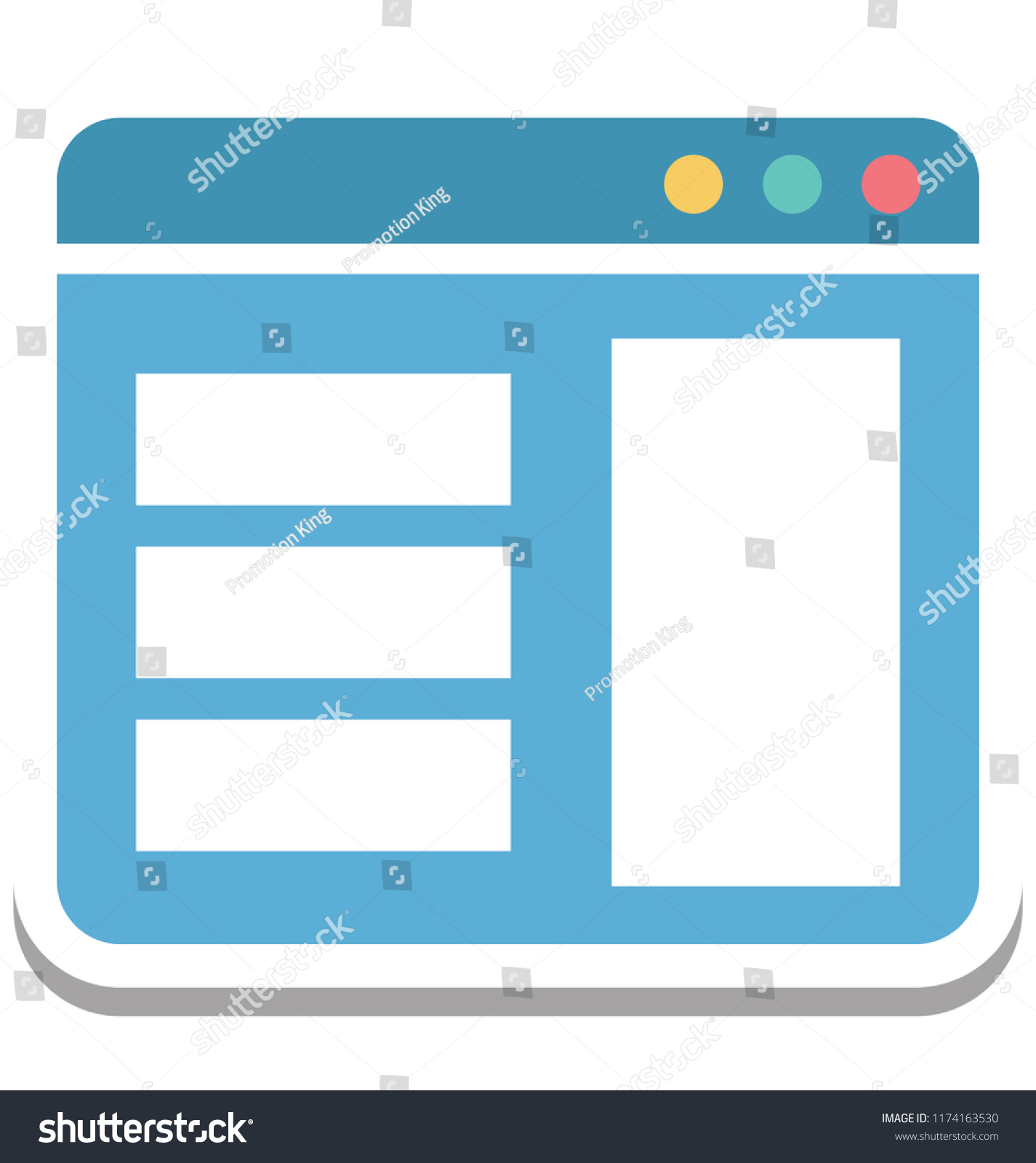 web template web layout isolated vector stock vector (royalty free
