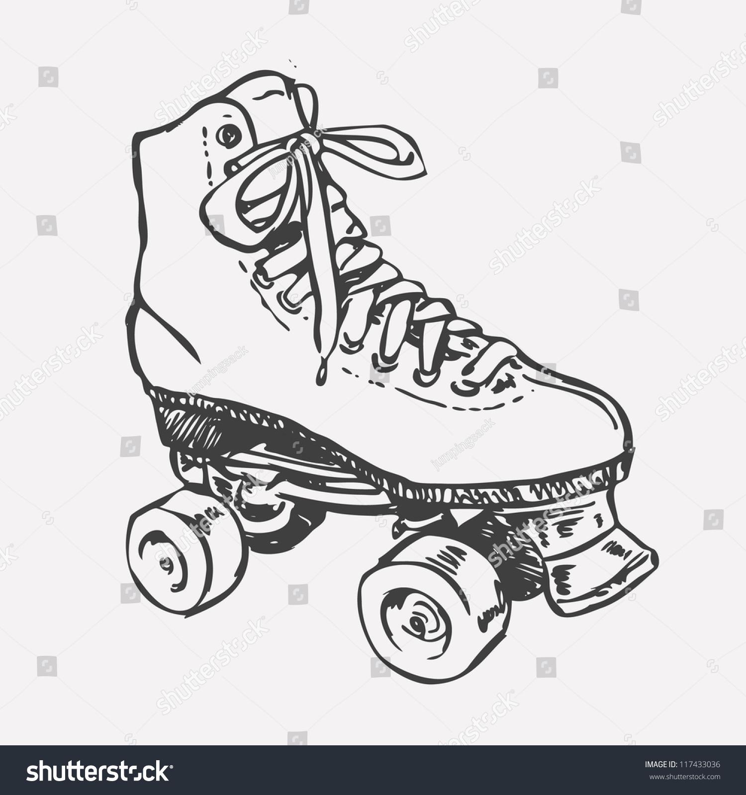 """Résultat de recherche d'images pour """"roller skate drawing"""""""