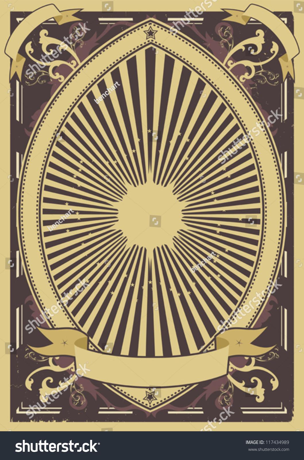 Vintage Poster Background/ Illustration Of A Grunge ...