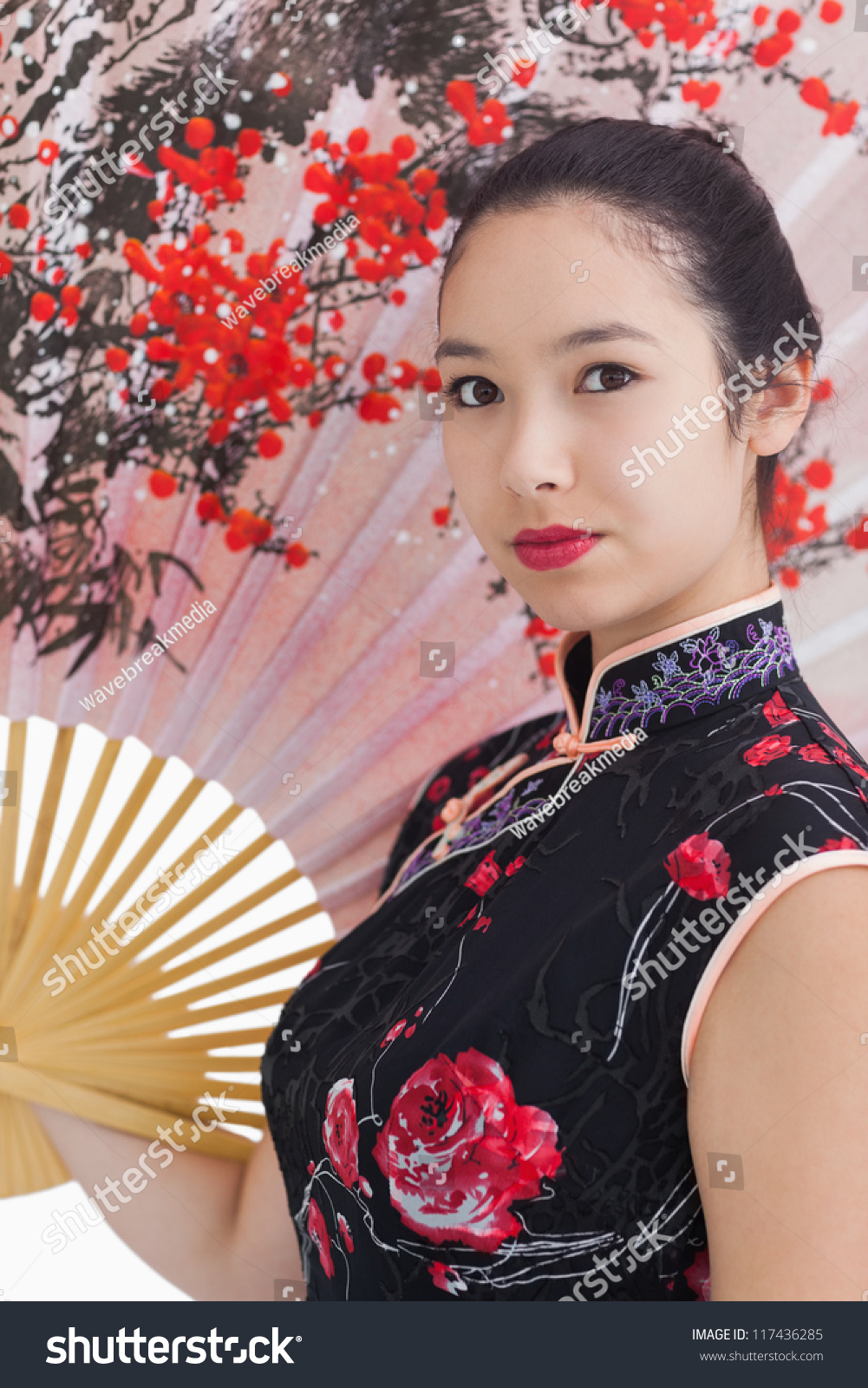 Woman Wearing Traditional Asian Clothing Large Stock Photo Edit Now