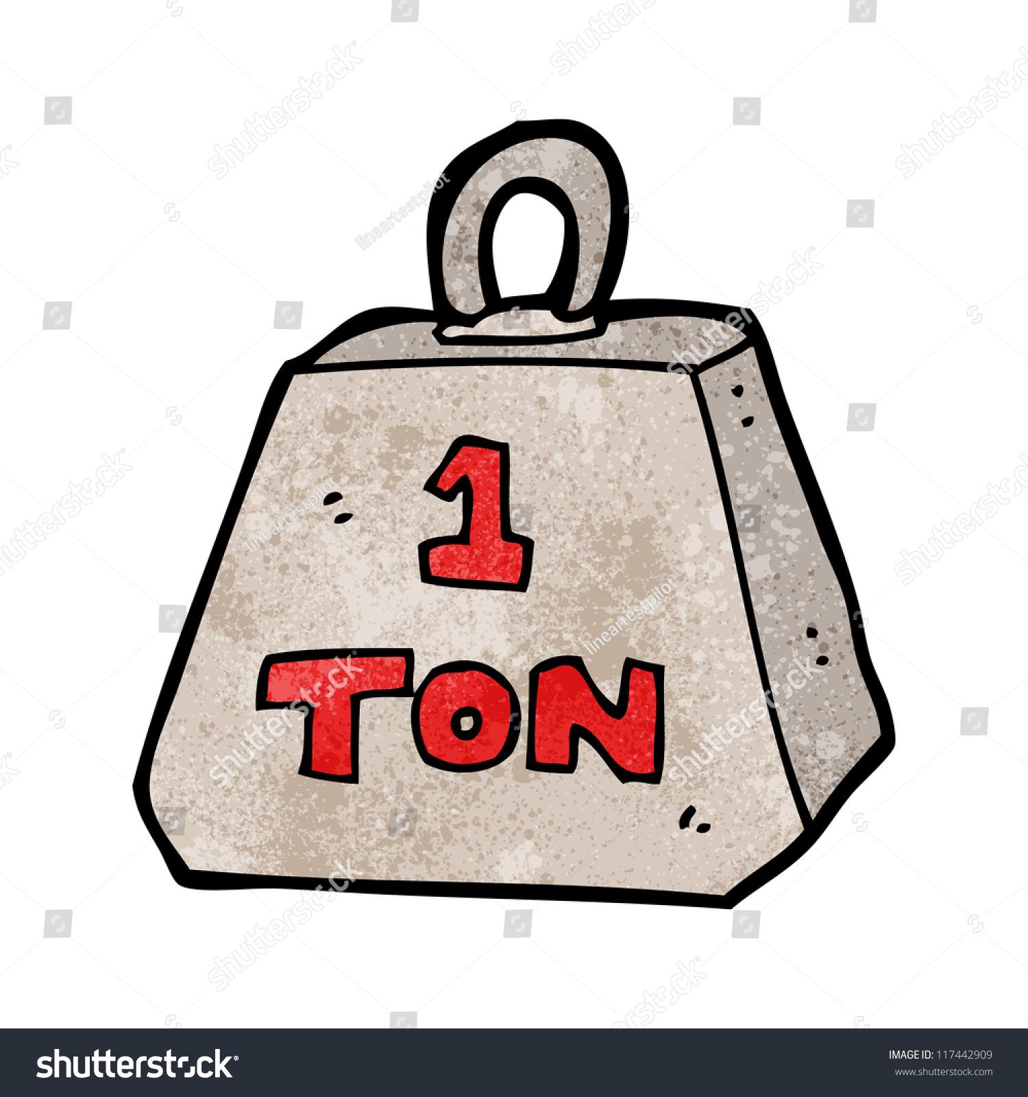 El juego de las palabras encadenadas-https://image.shutterstock.com/z/stock-vector-cartoon-one-ton-weight-117442909.jpg